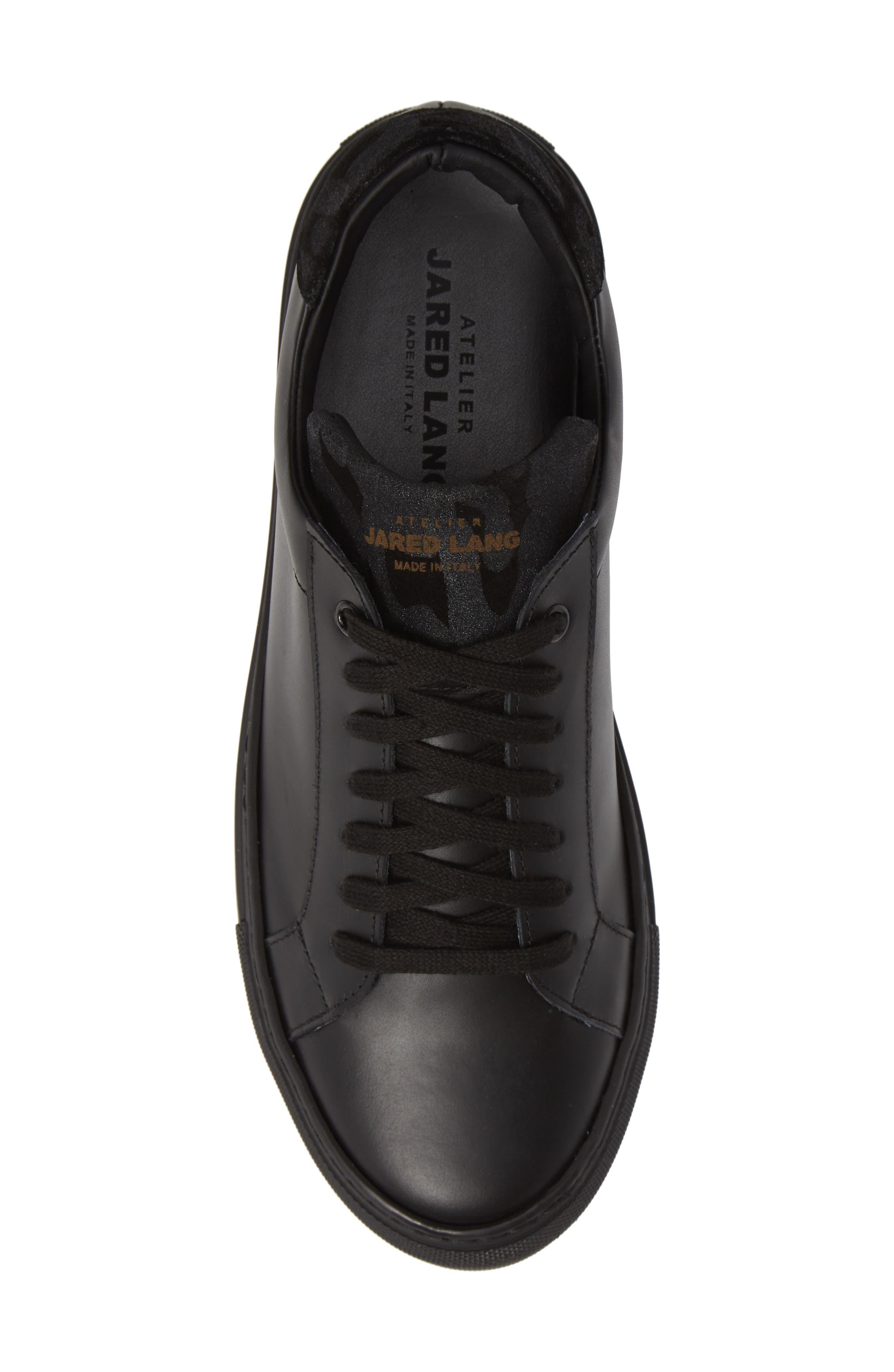 JARED LANG, Rome Sneaker, Alternate thumbnail 5, color, BLACK