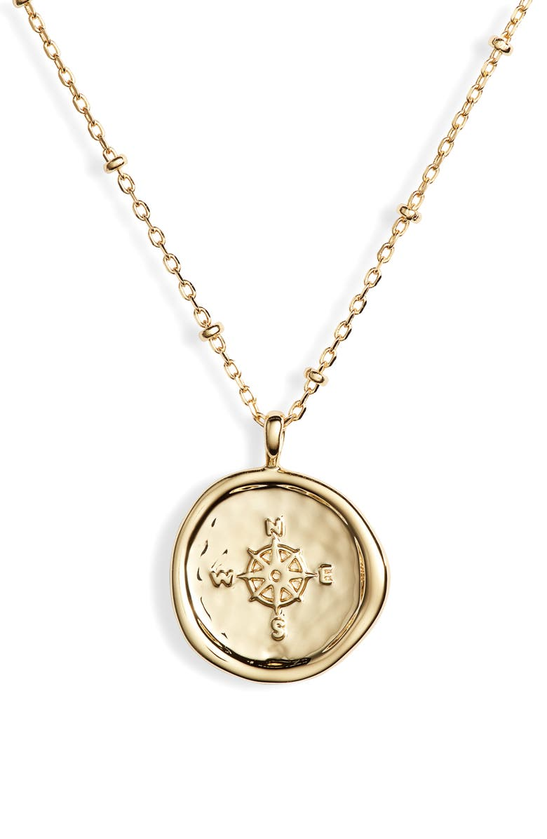 Gorjana Accessories COMPASS COIN PENDANT NECKLACE