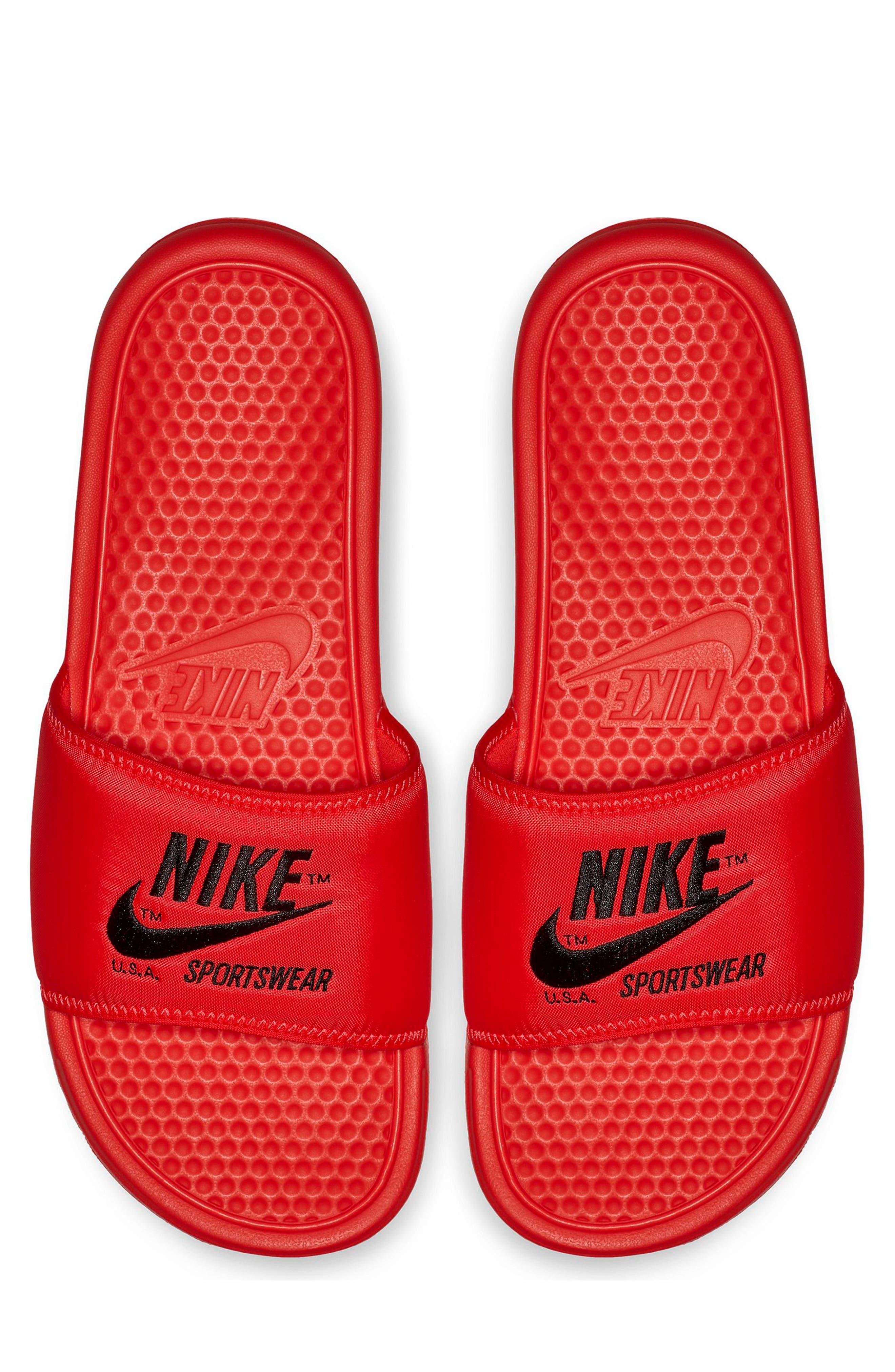 NIKE Benassi JDI Slide Sandal, Main, color, 600