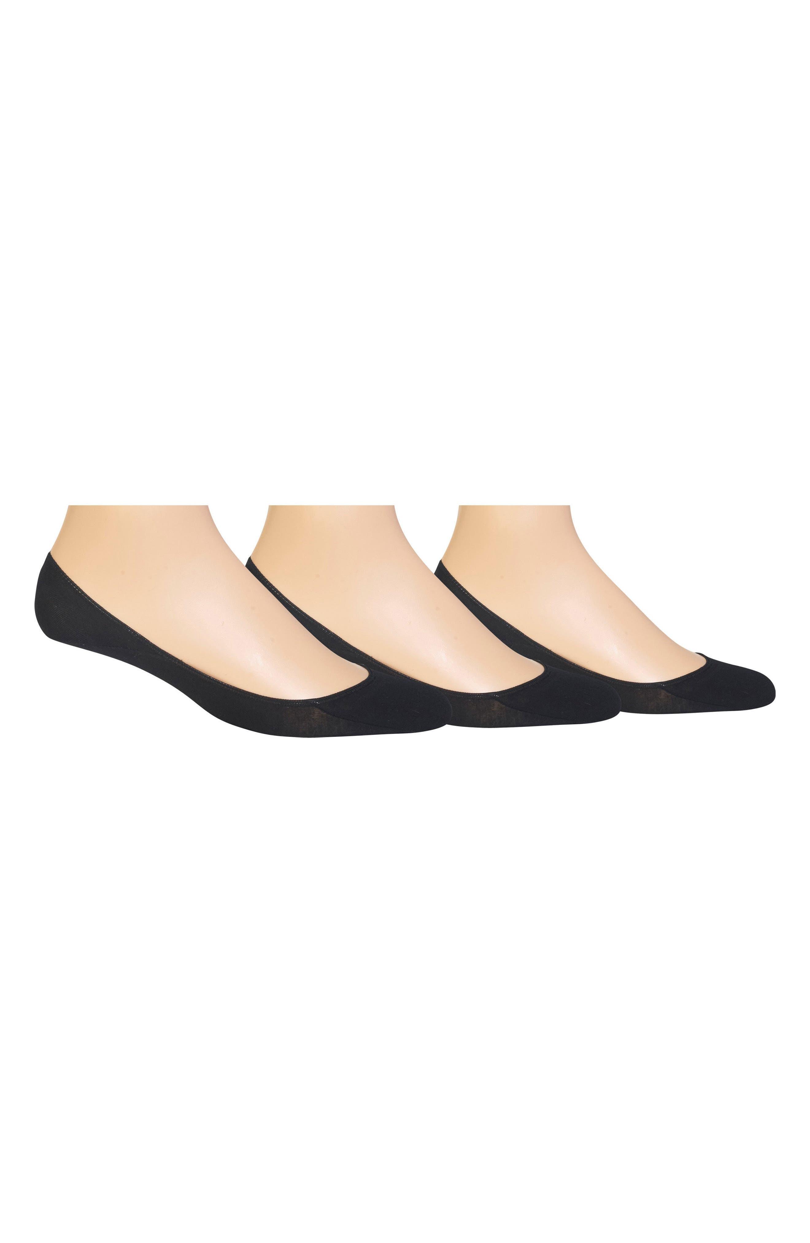 POLO RALPH LAUREN 3-Pack Liner Socks, Main, color, BLACK