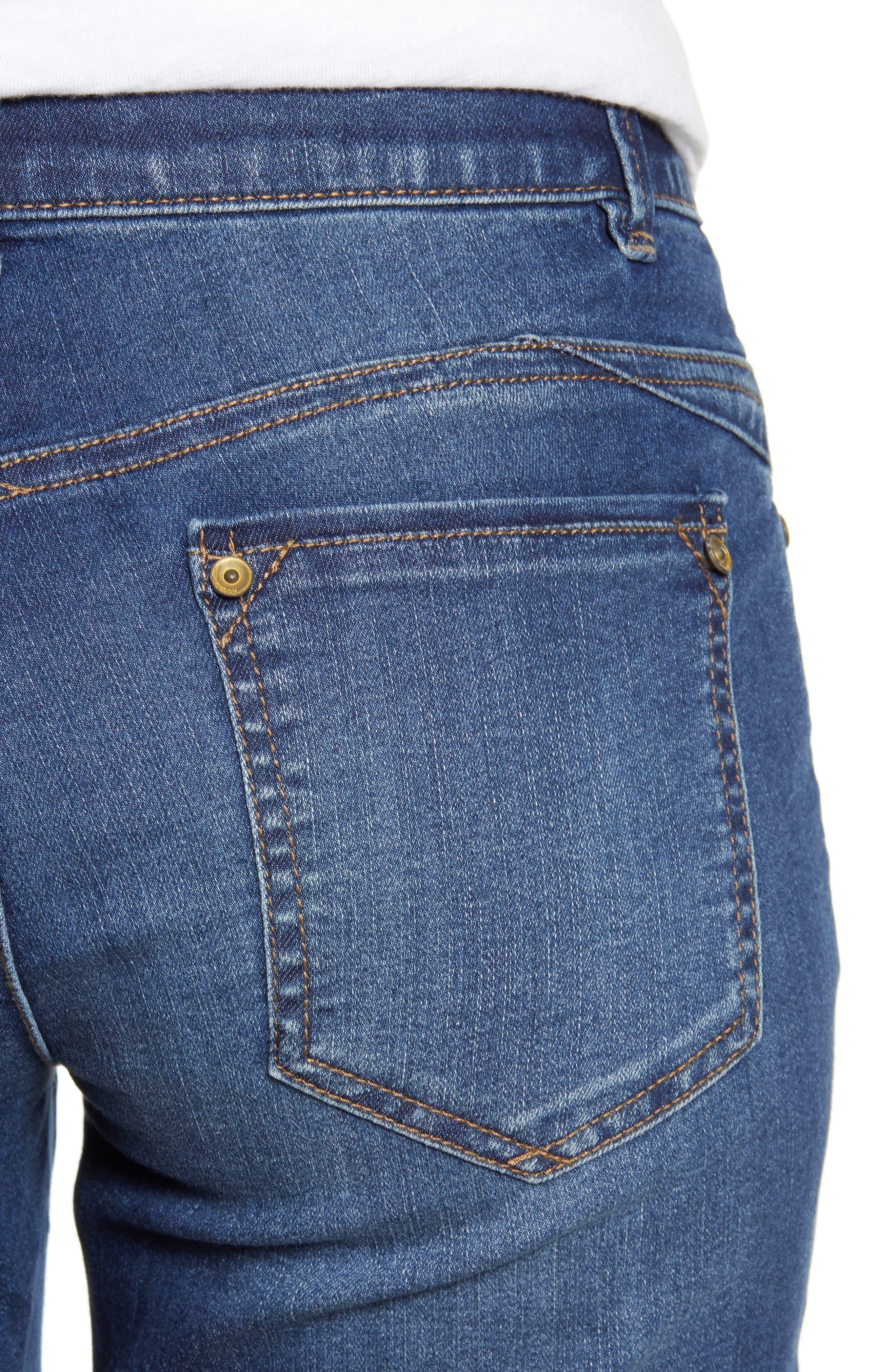 WIT & WISDOM, Ab-solution Cuffed Denim Shorts, Alternate thumbnail 5, color, BLUE