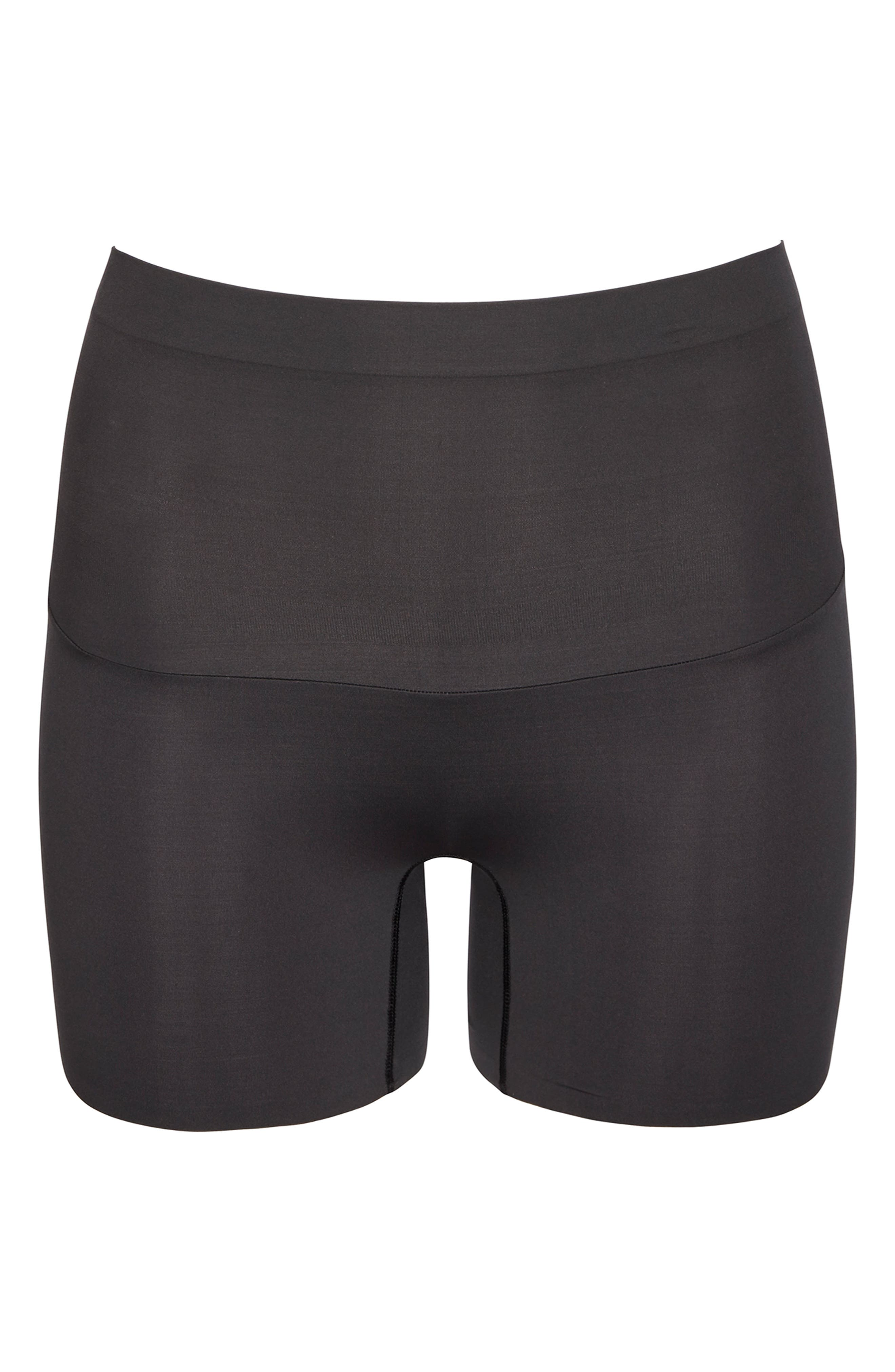 SPANX<SUP>®</SUP>, Shape My Day Girl Shorts, Alternate thumbnail 5, color, BLACK