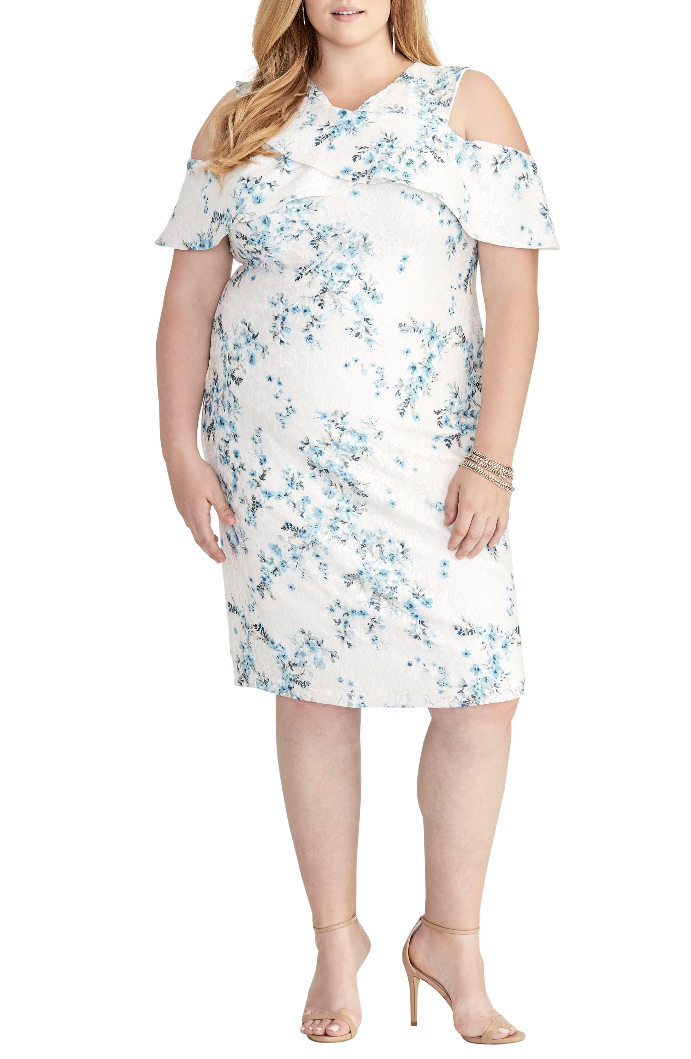 Plus Size Rachel Rachel Roy Cold Shoulder Lace Sheath Dress