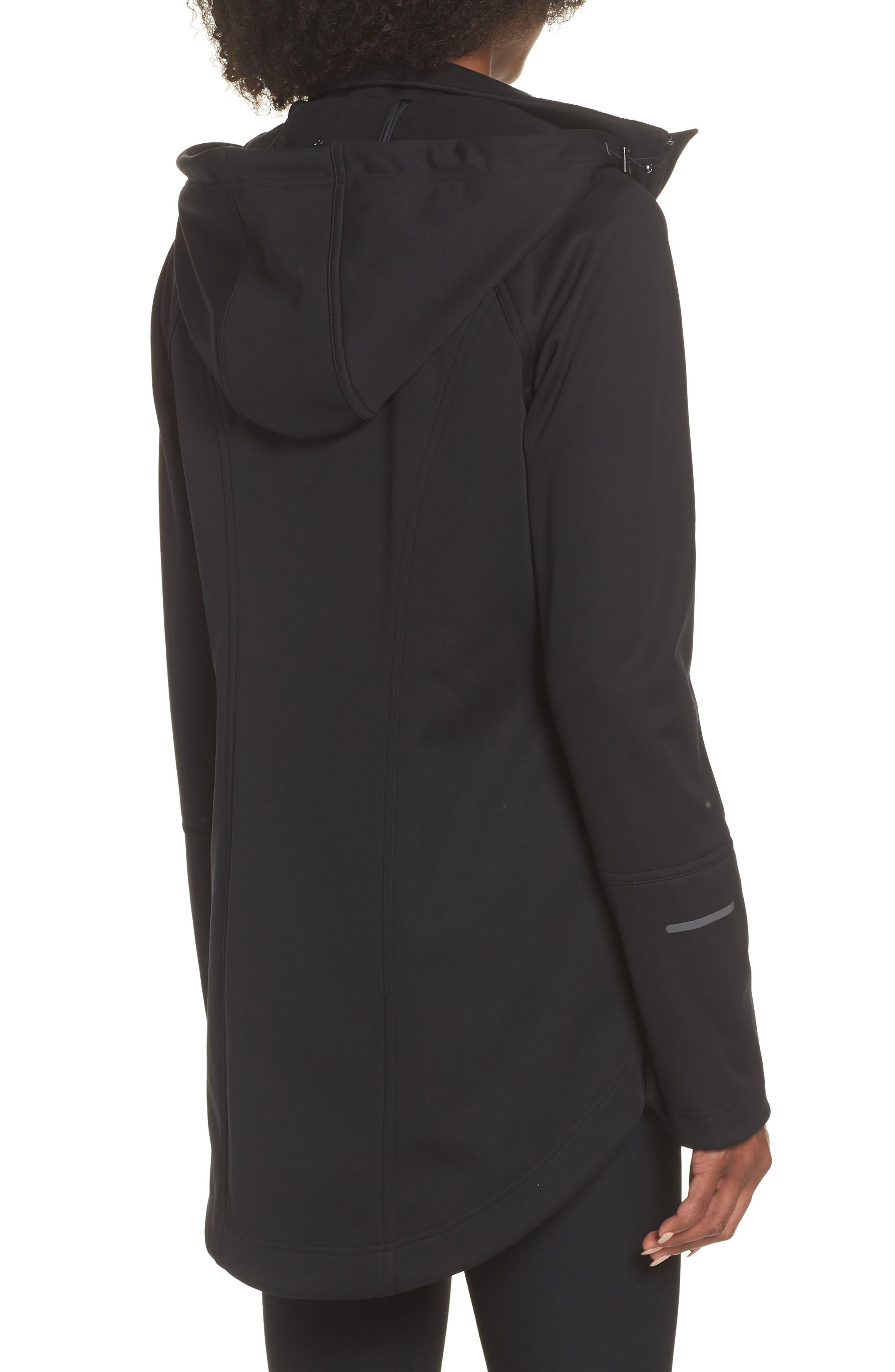 ZELLA, Aero Hooded Soft Shell Training Jacket, Alternate thumbnail 2, color, 001