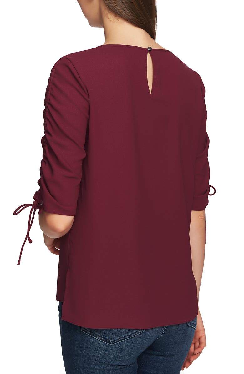 1.STATE Blouses RUCHED DETAIL TIE SLEEVE BLOUSE
