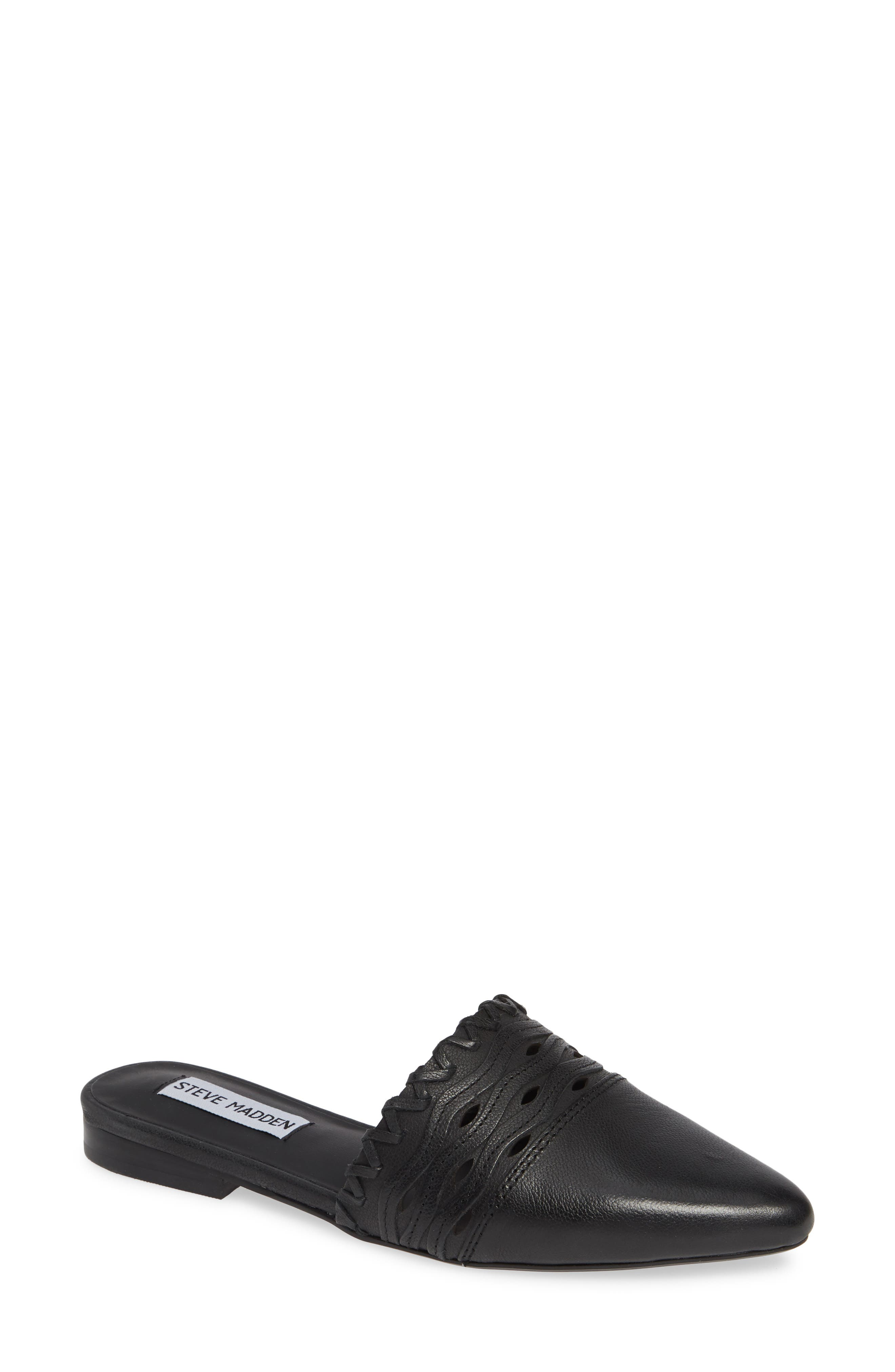 STEVE MADDEN, Timmy Mule, Main thumbnail 1, color, BLACK LEATHER