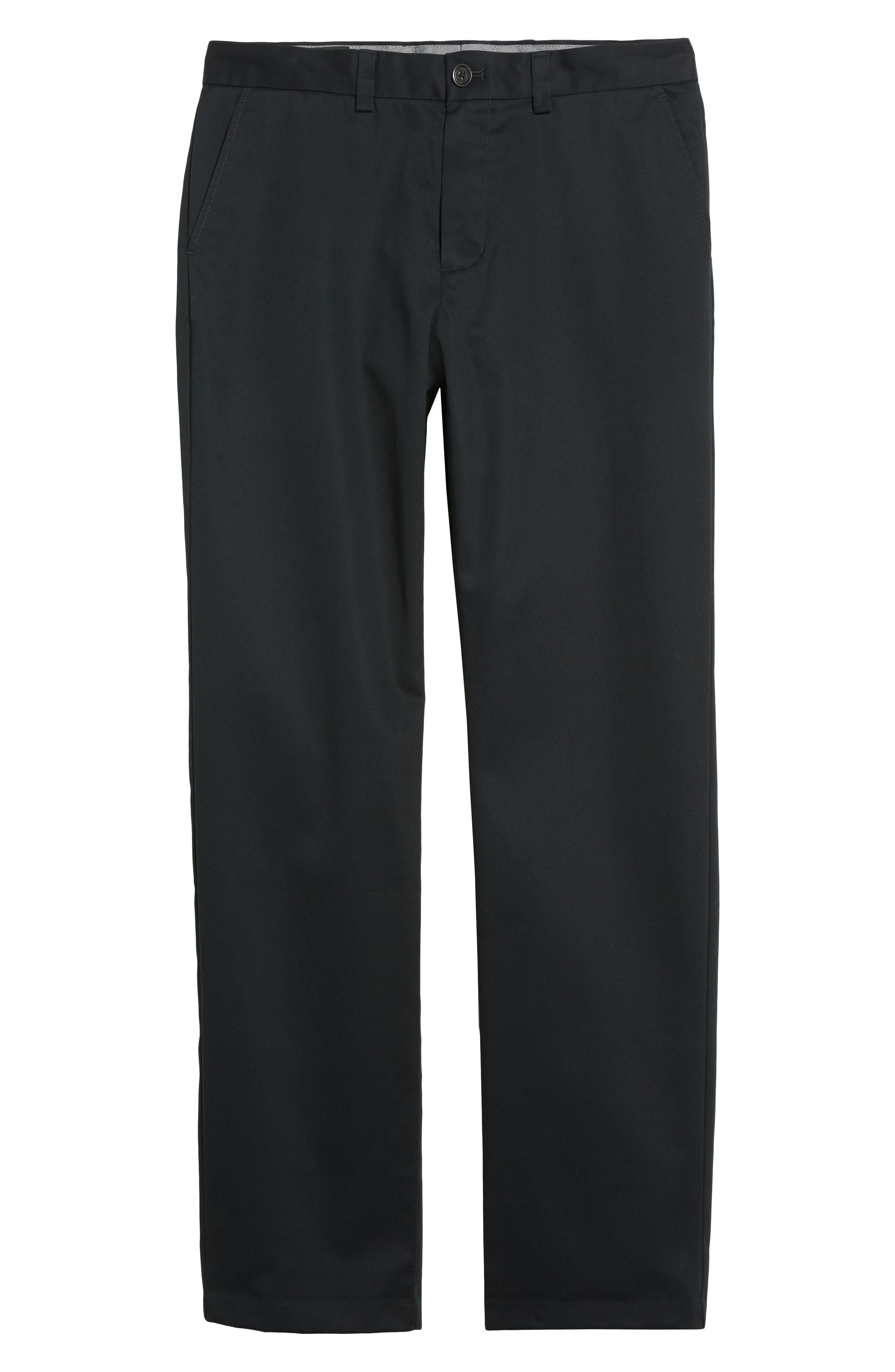 NORDSTROM MEN'S SHOP, Wrinkle Free Straight Leg Chinos, Alternate thumbnail 7, color, ANTHRACITE