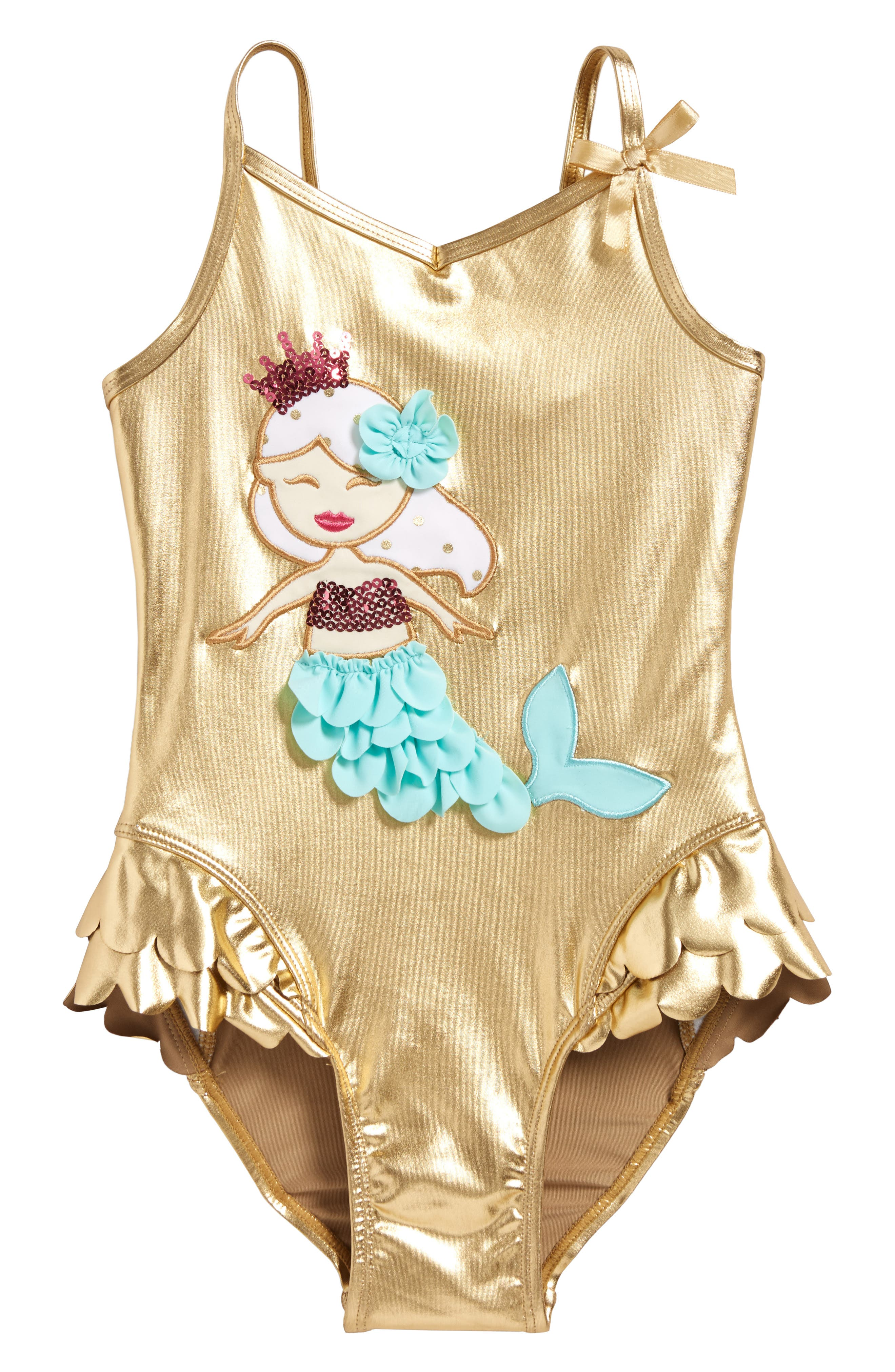 FLAPDOODLES Mermaid One-Piece Swimsuit, Main, color, 710
