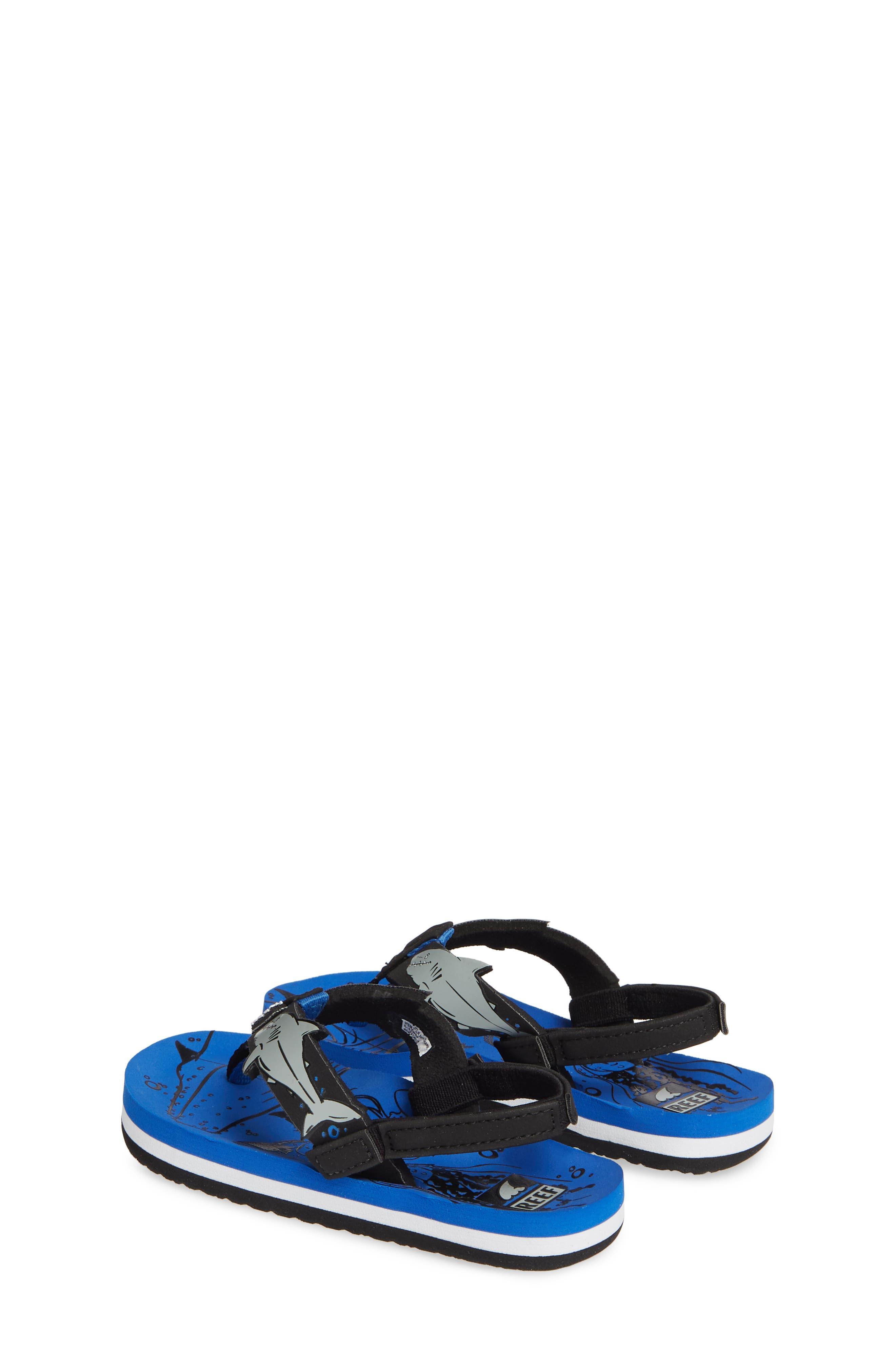 REEF, Ahi Shark Flip Flop, Alternate thumbnail 3, color, BLUE