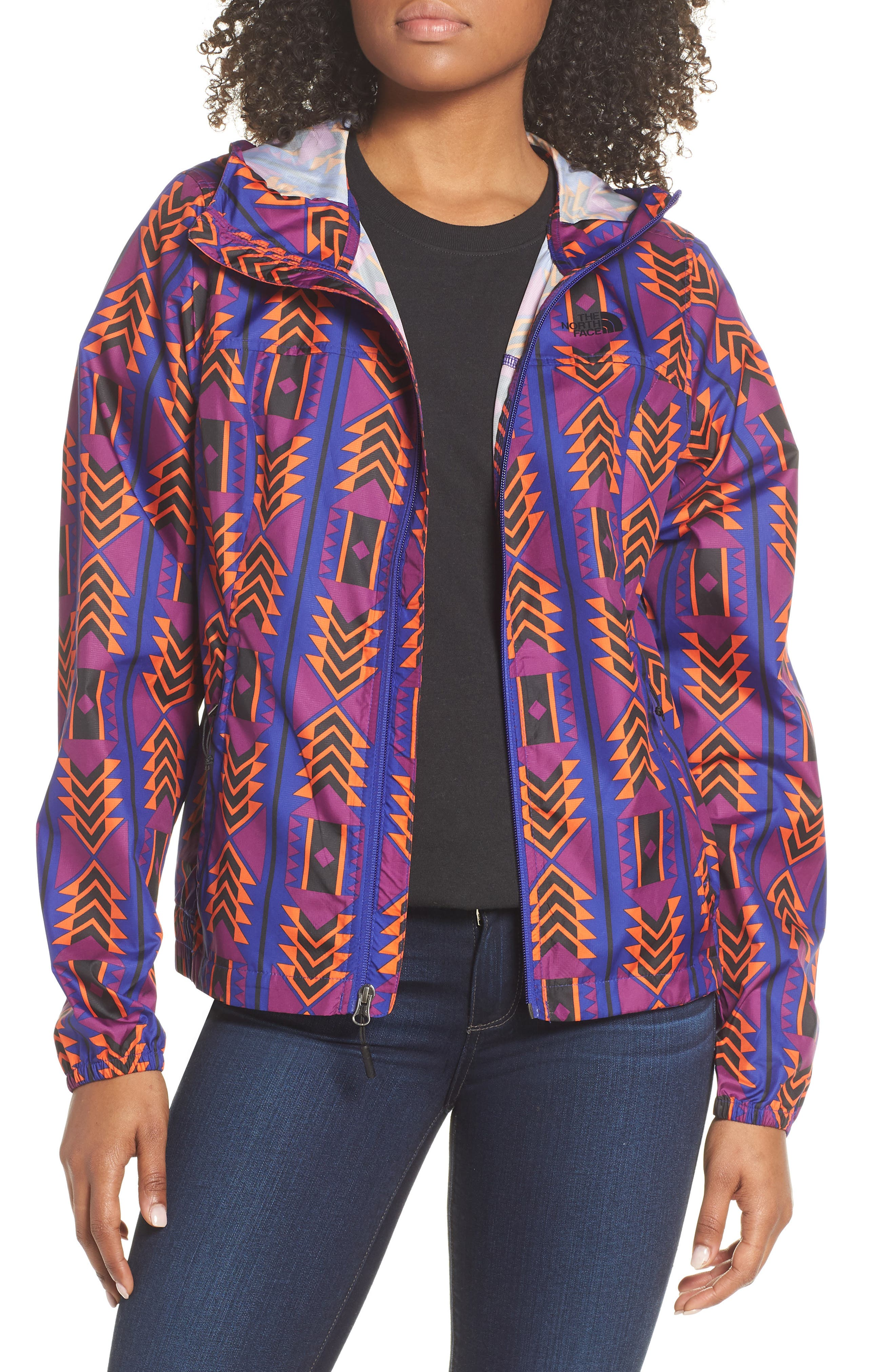 THE NORTH FACE Print Cyclone 3.0 WindWall<sup>®</sup> Jacket, Main, color, AZTEC BLUE 1992 RAGE PRINT