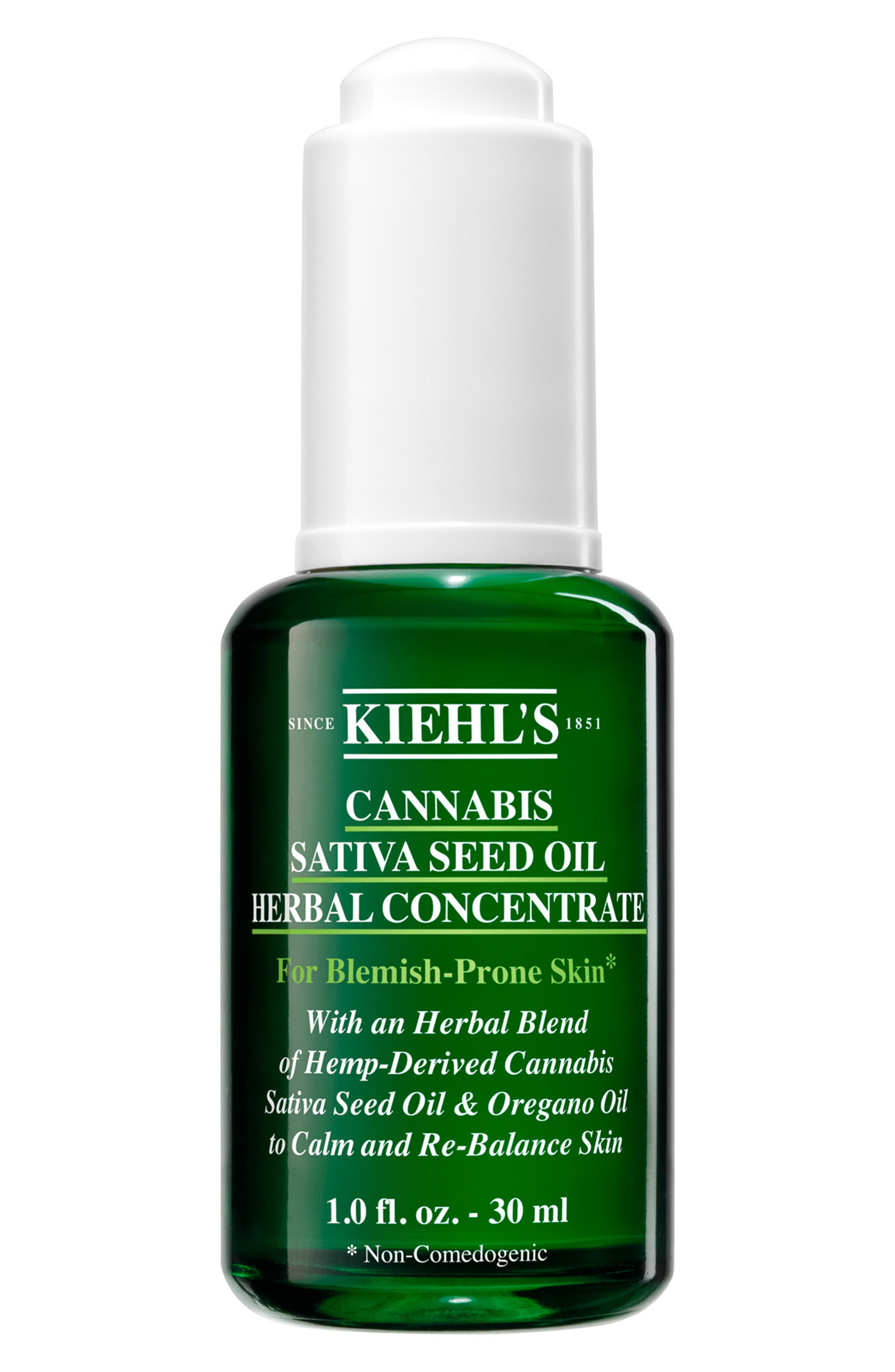 KIEHL'S SINCE 1851, Cannabis Sativa Seed Oil Herbal Concentrate Hemp-Derived, Main thumbnail 1, color, NO COLOR