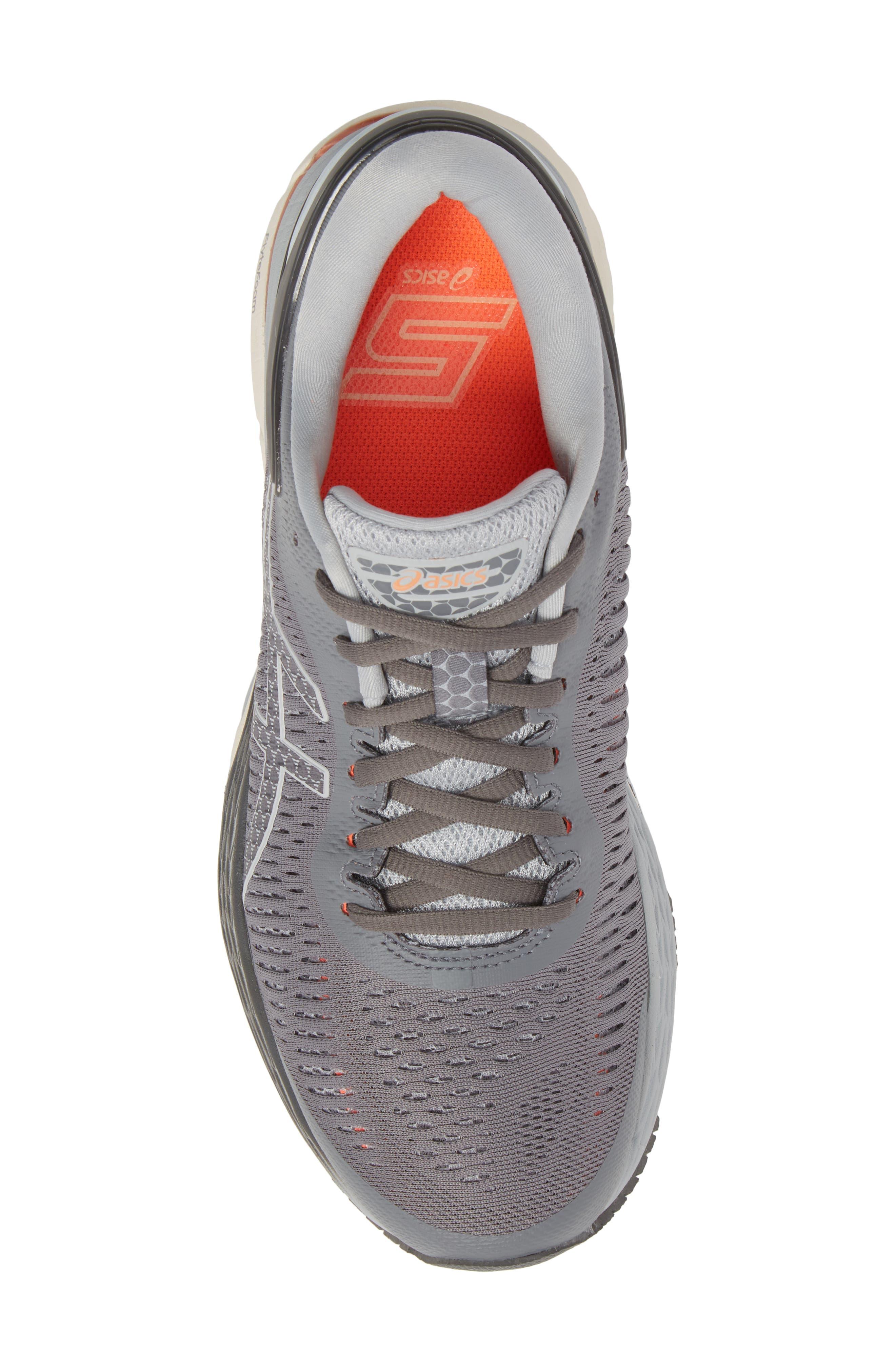 ASICS<SUP>®</SUP>, GEL-Kayano<sup>®</sup> 25 Running Shoe, Alternate thumbnail 5, color, CARBON/ MID GREY