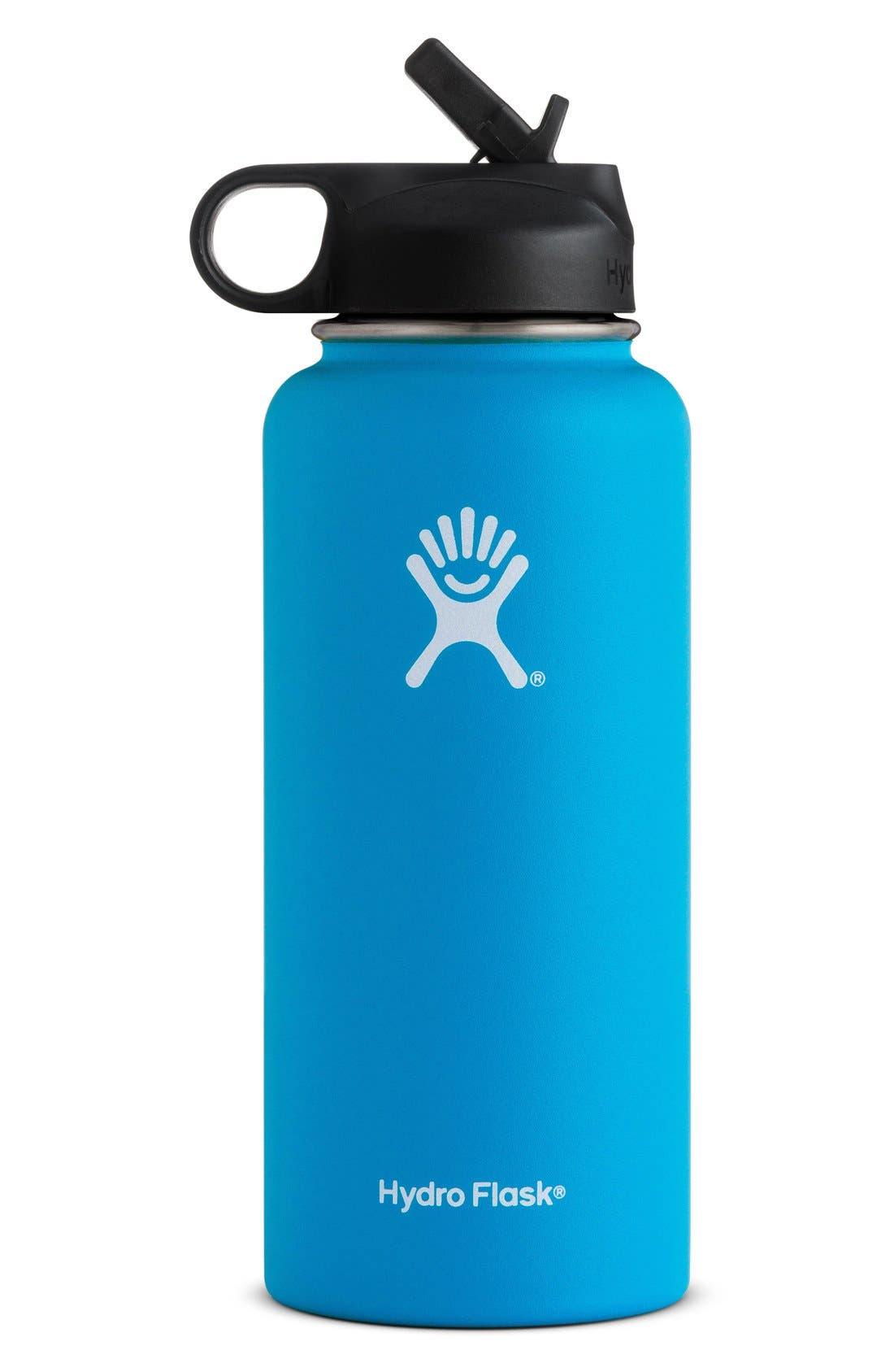 HYDRO FLASK 32-Ounce Wide Mouth Bottle with Straw Lid, Main, color, 410