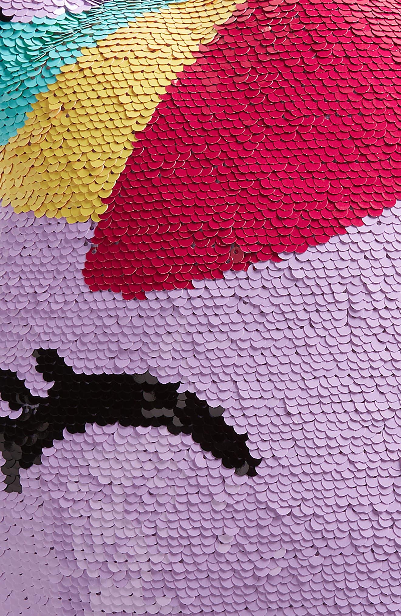 ISCREAM, Unicorn Reversible Sequin Pillow, Alternate thumbnail 3, color, 650