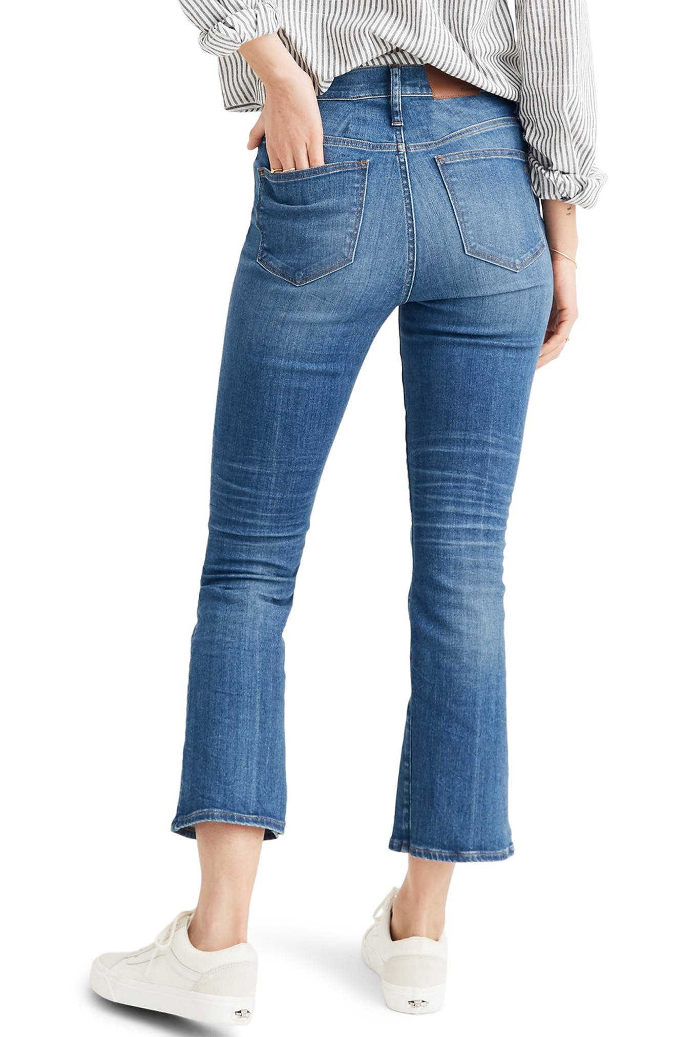 MADEWELL, Eco Edition Cali Demi Boot Jeans, Alternate thumbnail 4, color, TIERNEY WASH