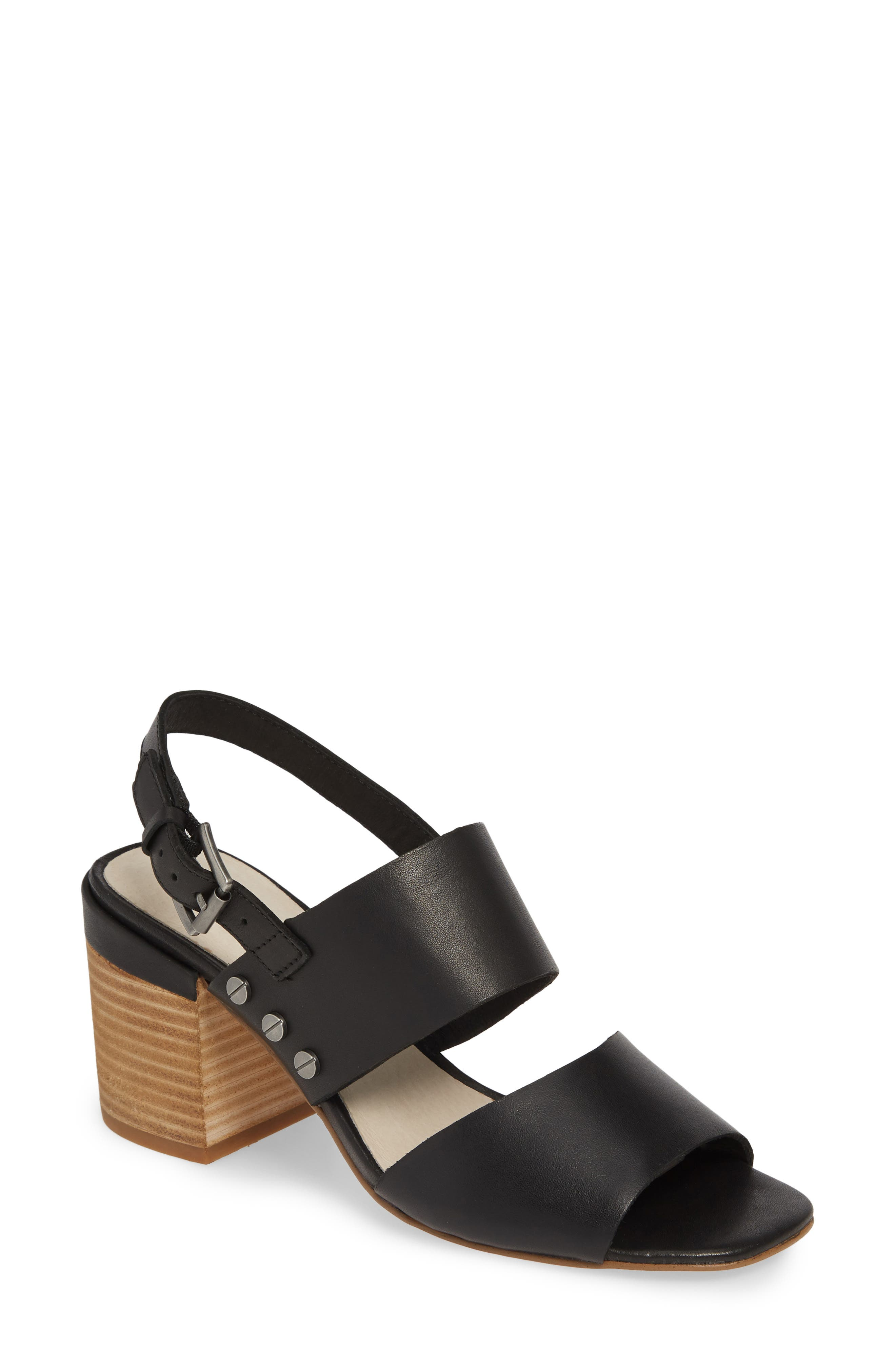 CASLON<SUP>®</SUP> Caslon Brayden Slingback Sandal, Main, color, BLACK LEATHER
