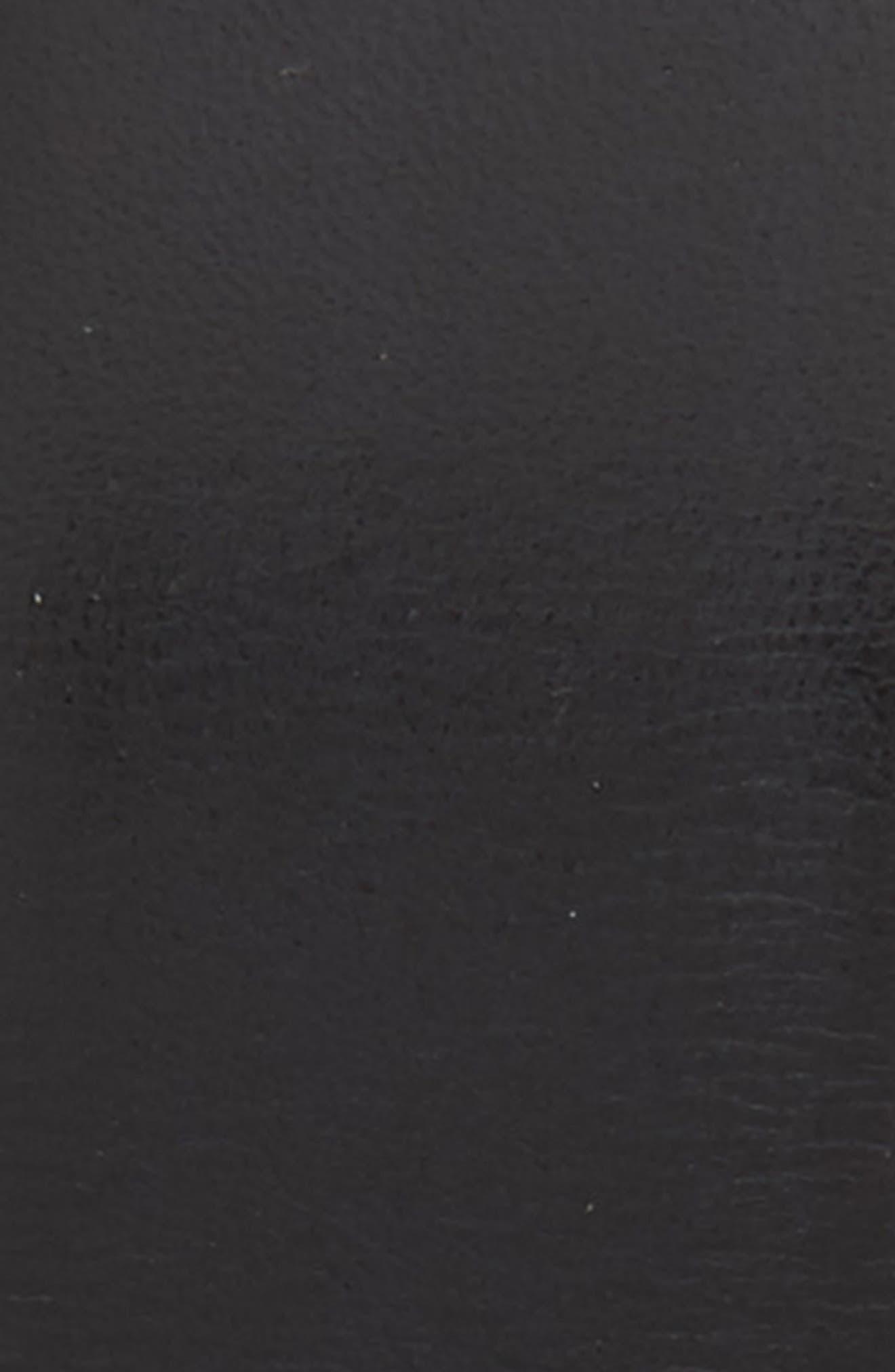 MEZLAN, Rama Leather Belt, Alternate thumbnail 2, color, BLACK