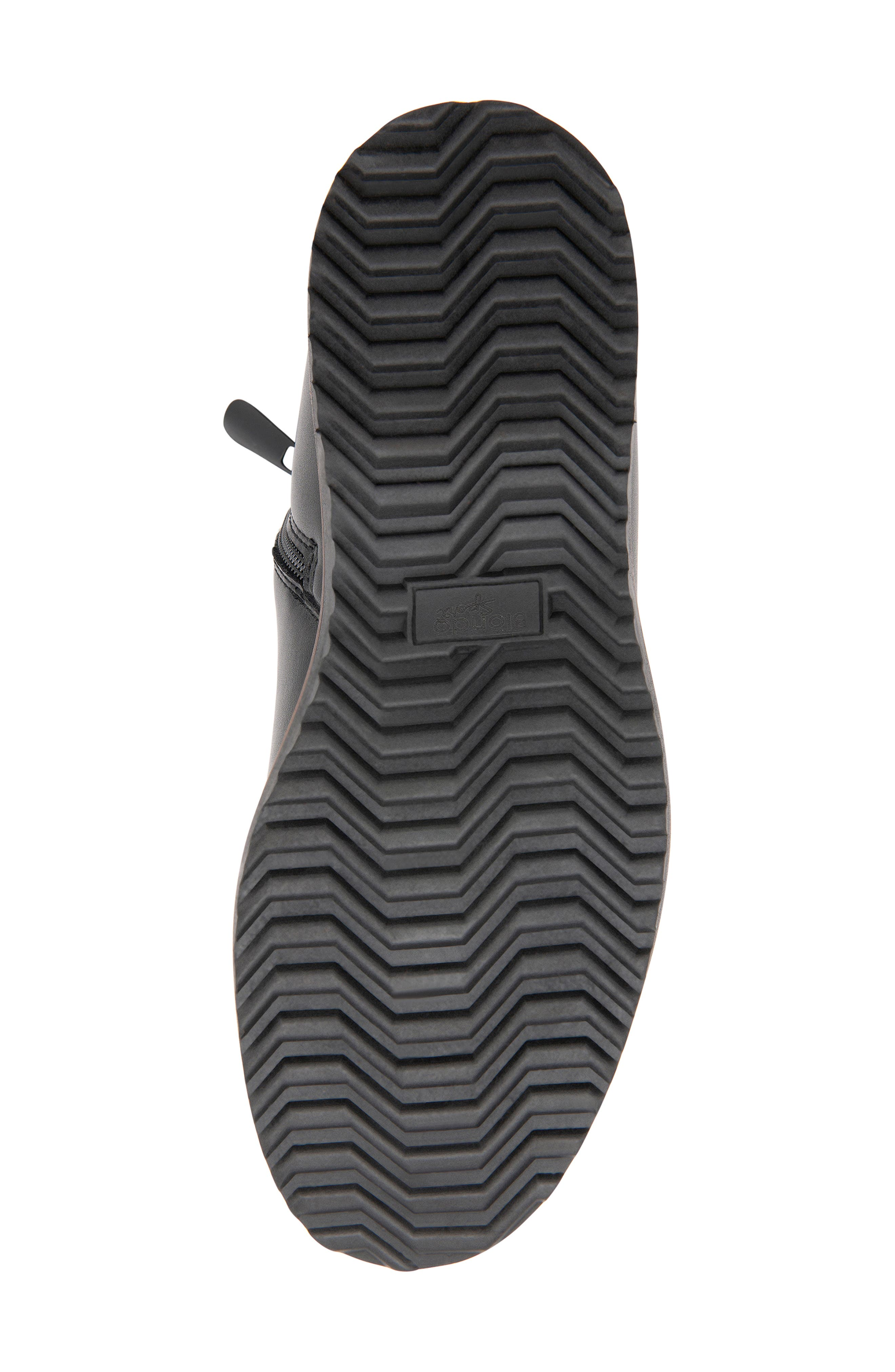 BLONDO, Morgan Waterproof Plain Toe Boot, Alternate thumbnail 5, color, BLACK LEATHER