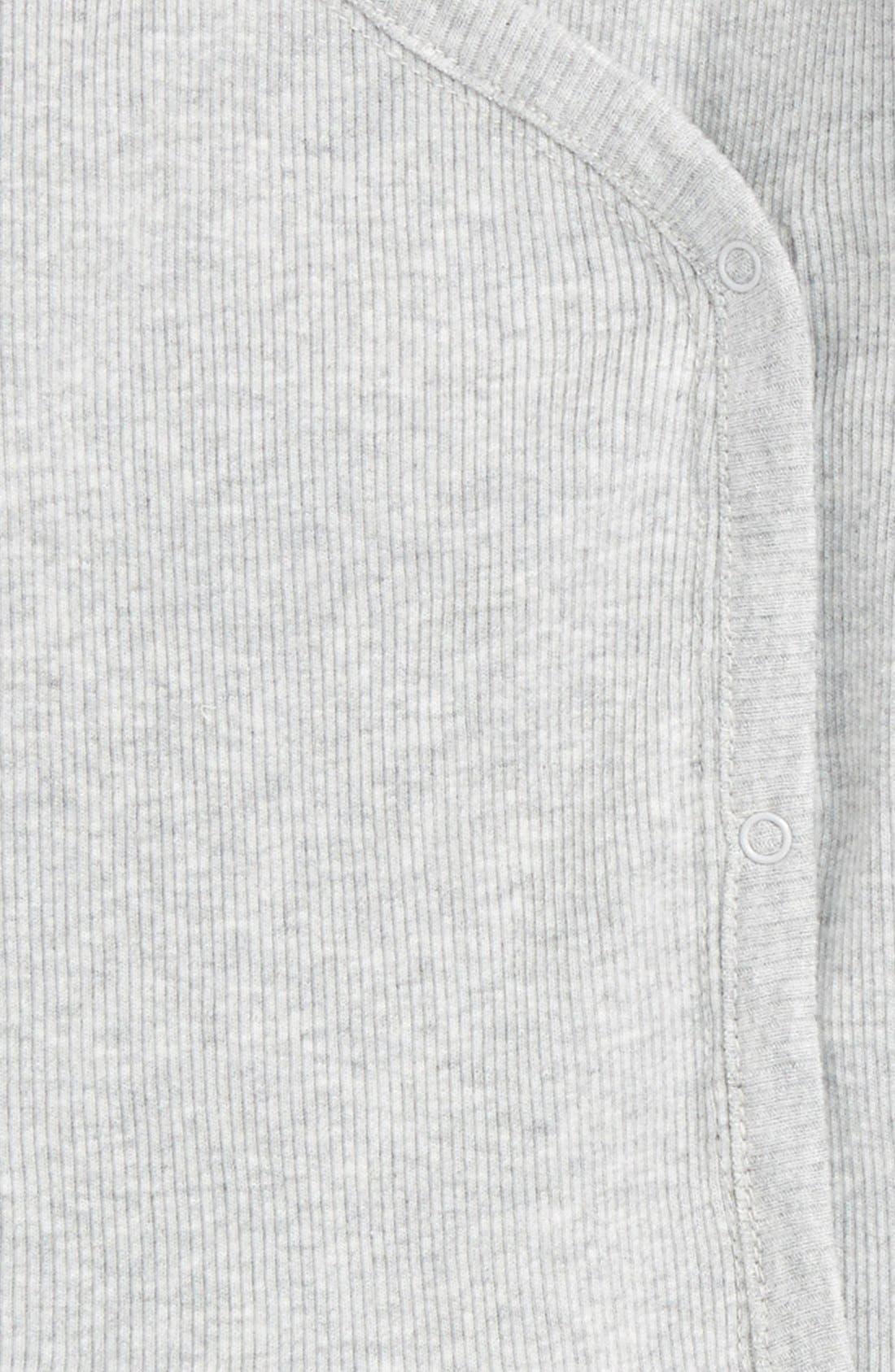 NORDSTROM BABY, Rib Knit T-Shirt & Pants Set, Alternate thumbnail 2, color, GREY ASH HEATHER