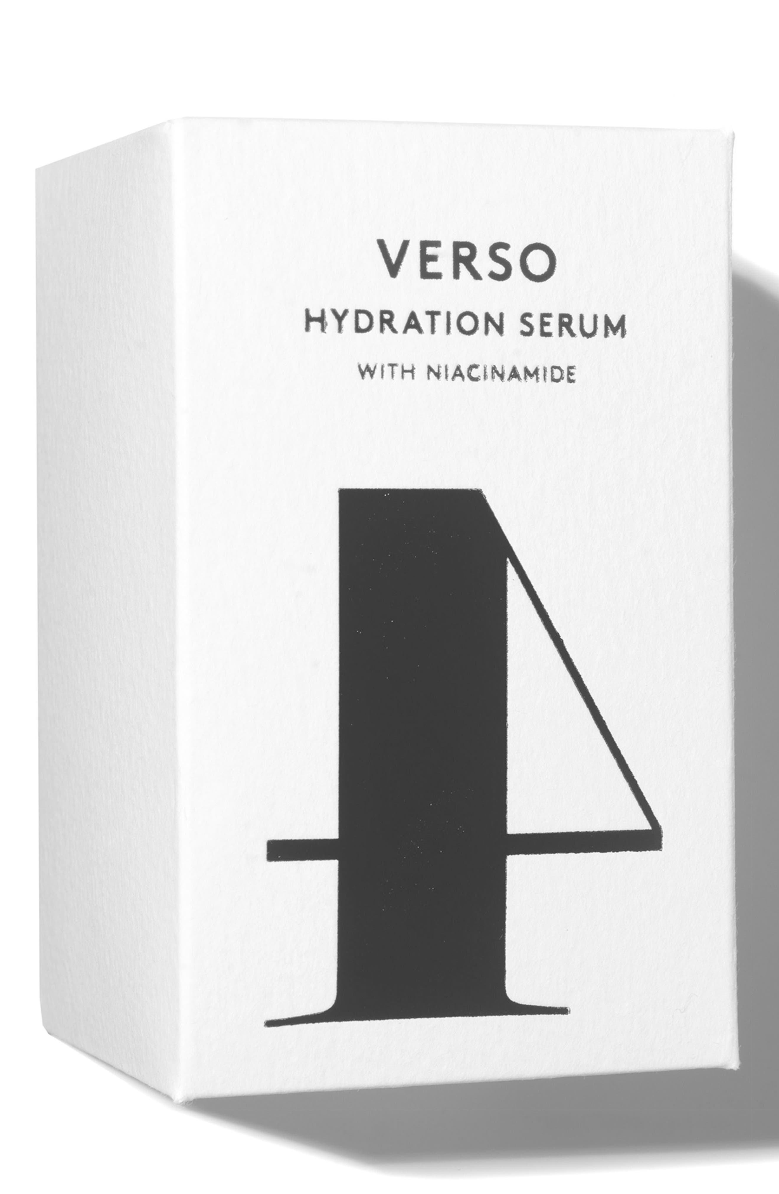 VERSO, SPACE.NK.apothecary Verso Skincare Hydration Serum, Alternate thumbnail 3, color, NO COLOR