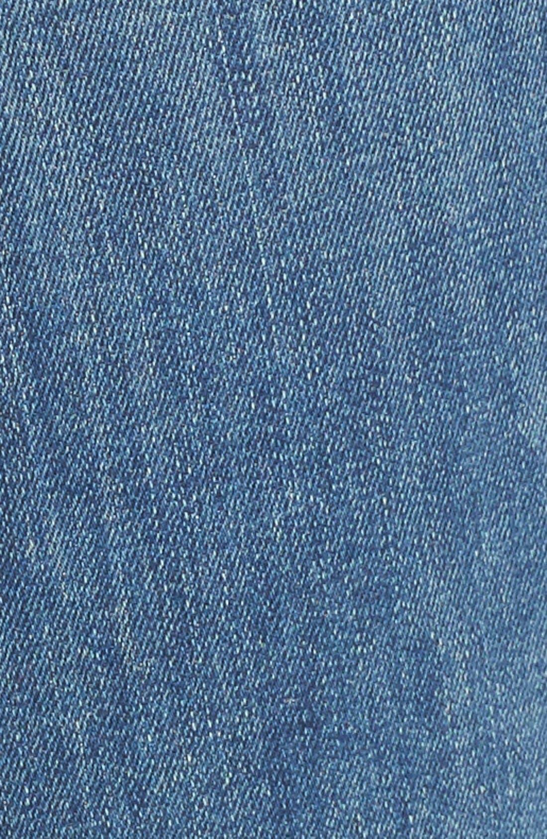 MOTHER, Raw Hem Flare Jeans, Alternate thumbnail 5, color, 420