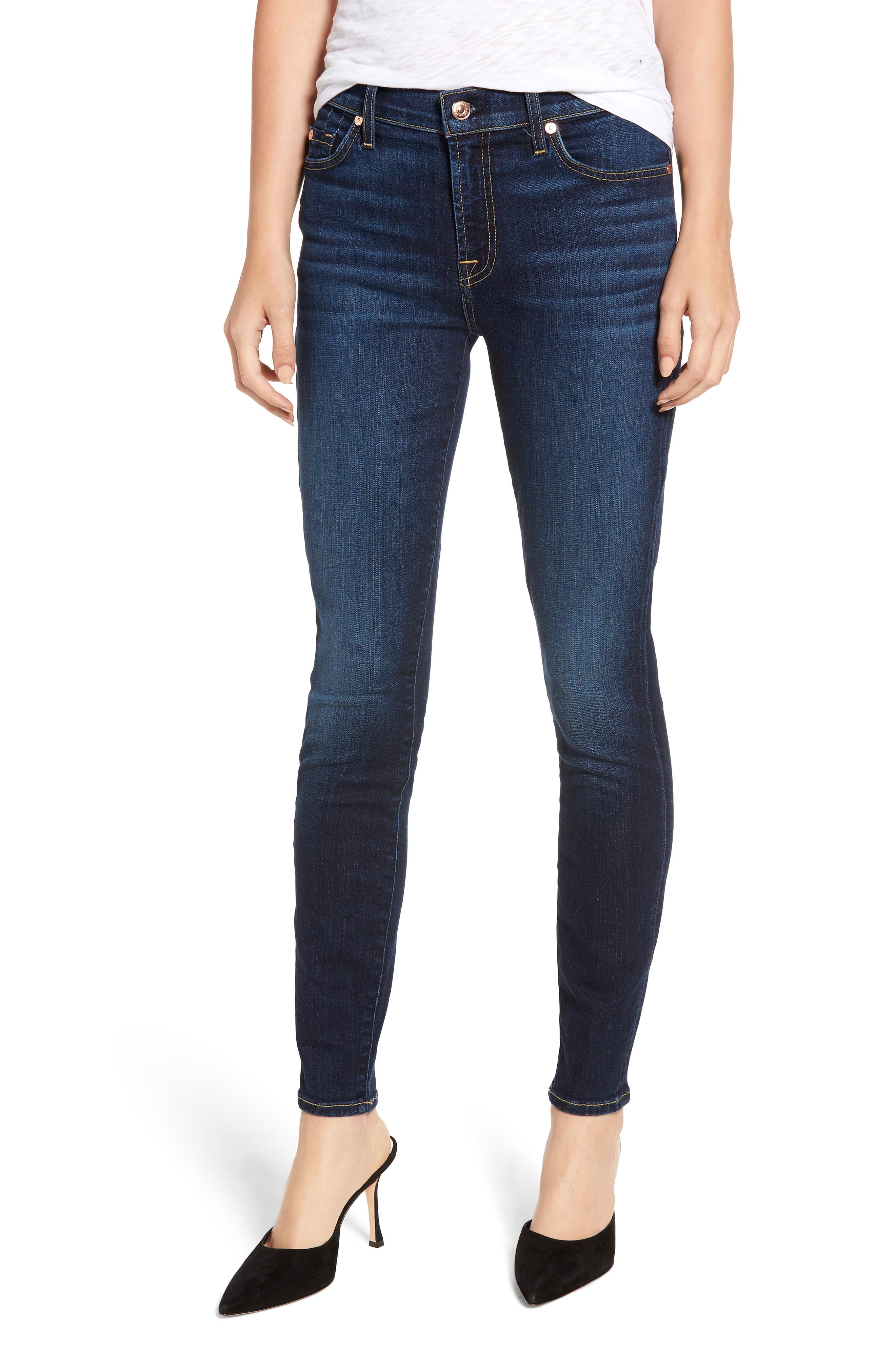 7 FOR ALL MANKIND<SUP>®</SUP> Ankle Skinny Jeans, Main, color, AUTHENTIC FATE