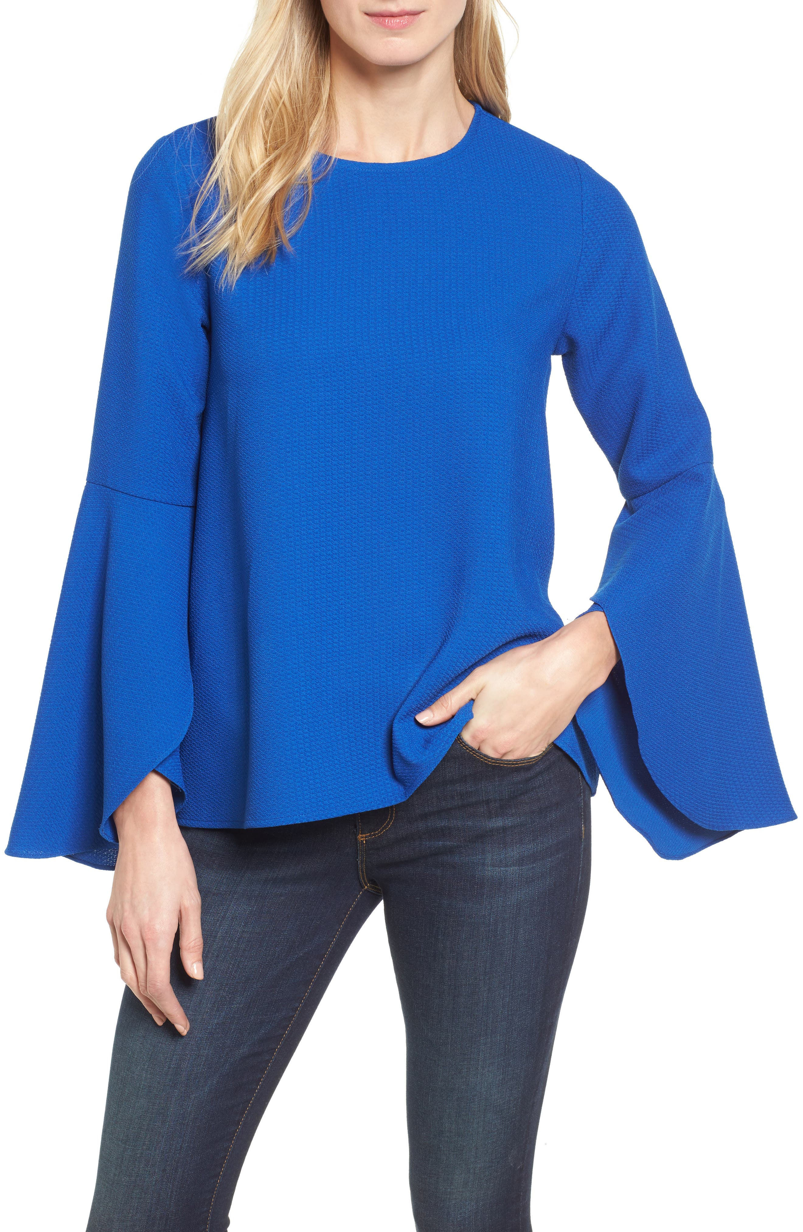 HALOGEN<SUP>®</SUP> Bell Sleeve Top, Main, color, 420