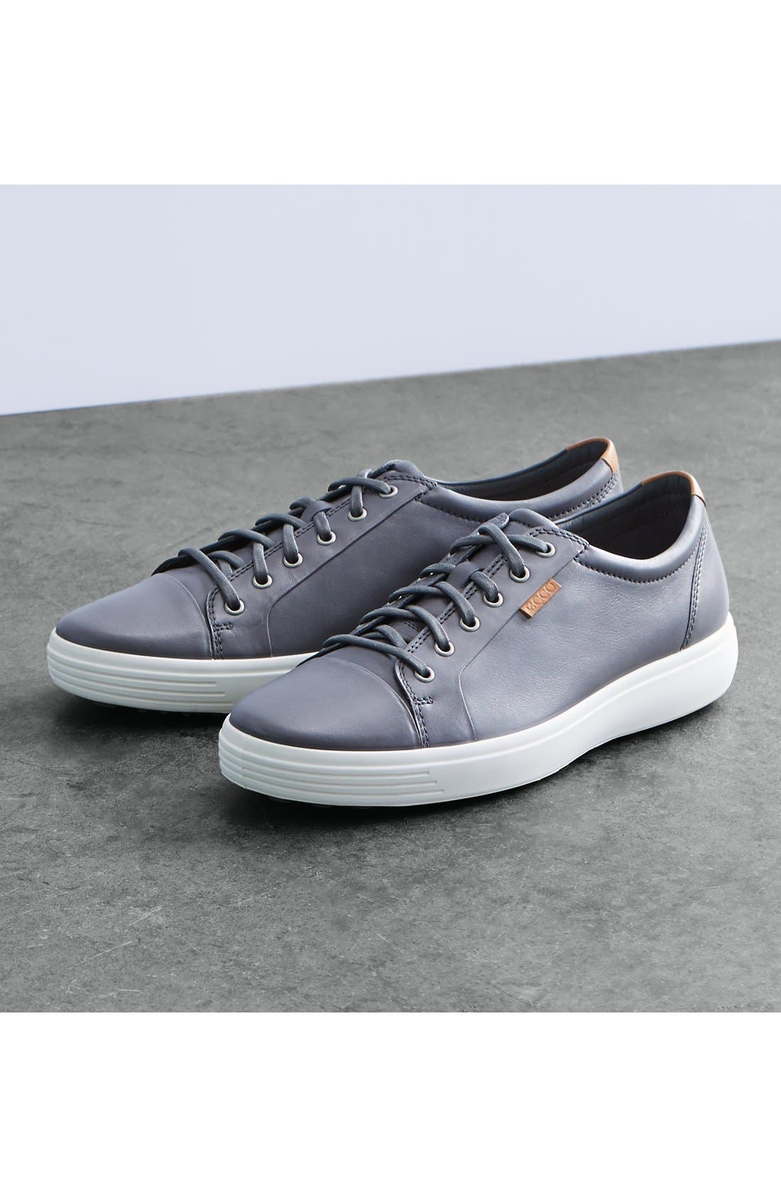 ECCO, Soft VII Lace-Up Sneaker, Alternate thumbnail 10, color, GREY DRAGO