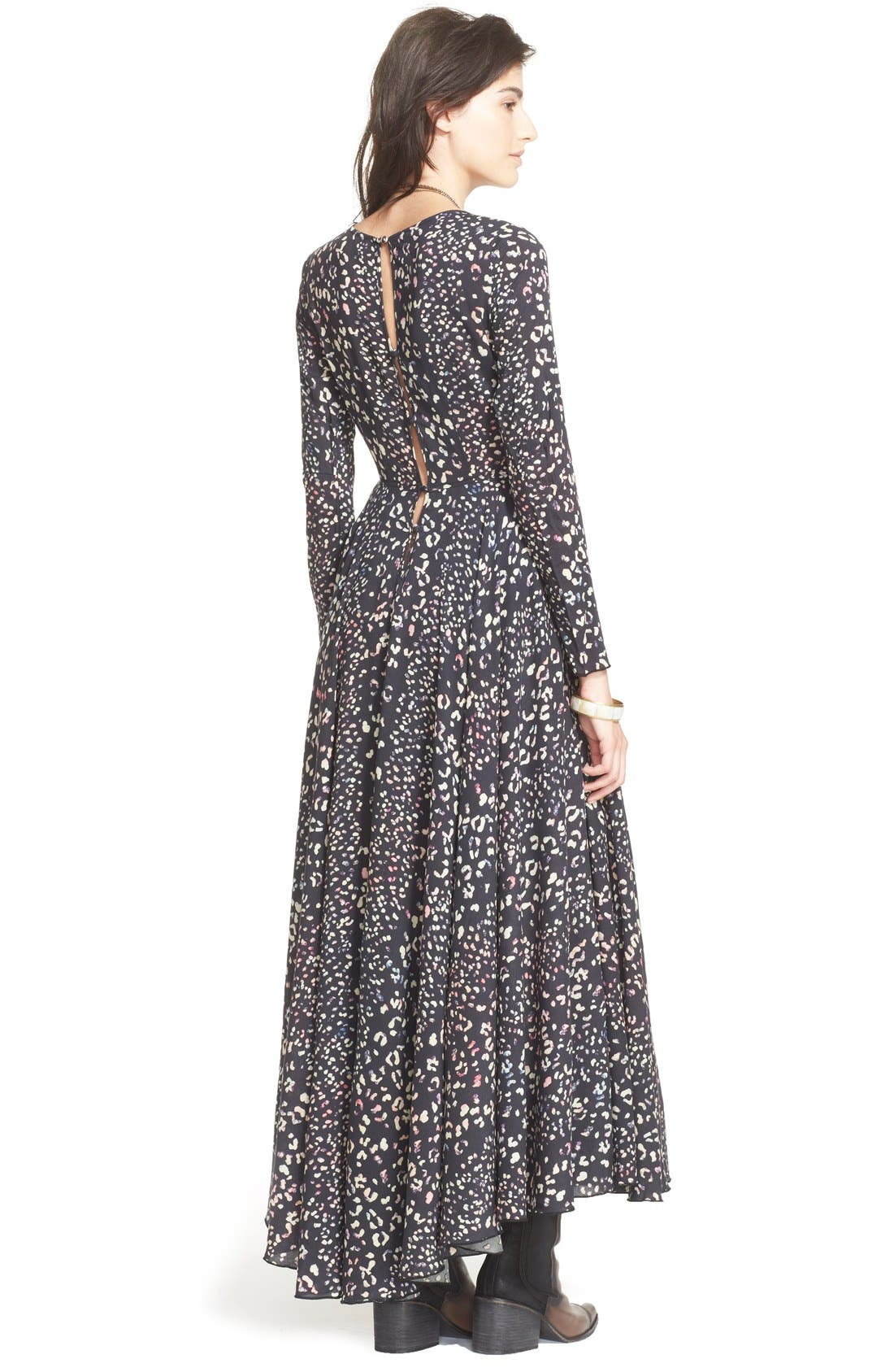 FREE PEOPLE, 'First Kiss' Maxi Dress, Alternate thumbnail 2, color, 001