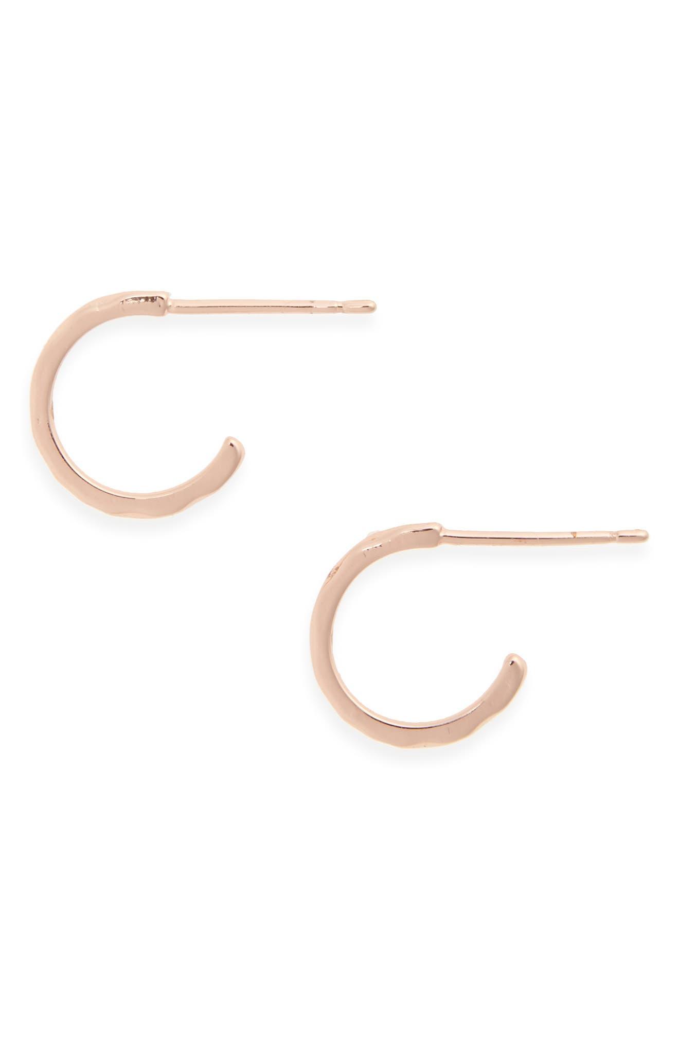 GORJANA 'Taner' Mini Hoop Earrings, Main, color, ROSE GOLD