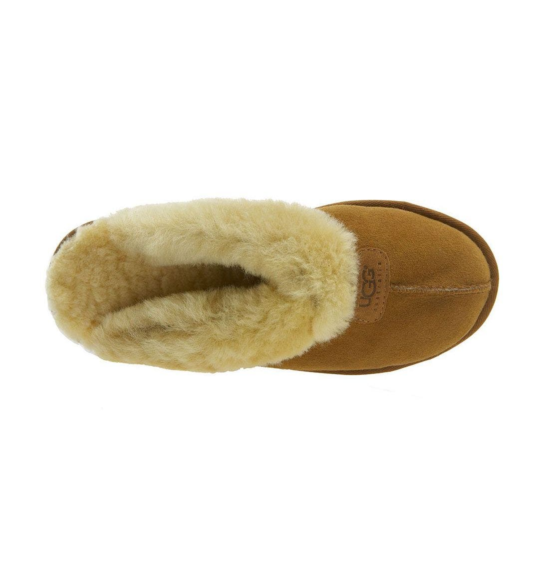 UGG<SUP>®</SUP>, Genuine Shearling Slipper, Alternate thumbnail 9, color, CHESTNUT