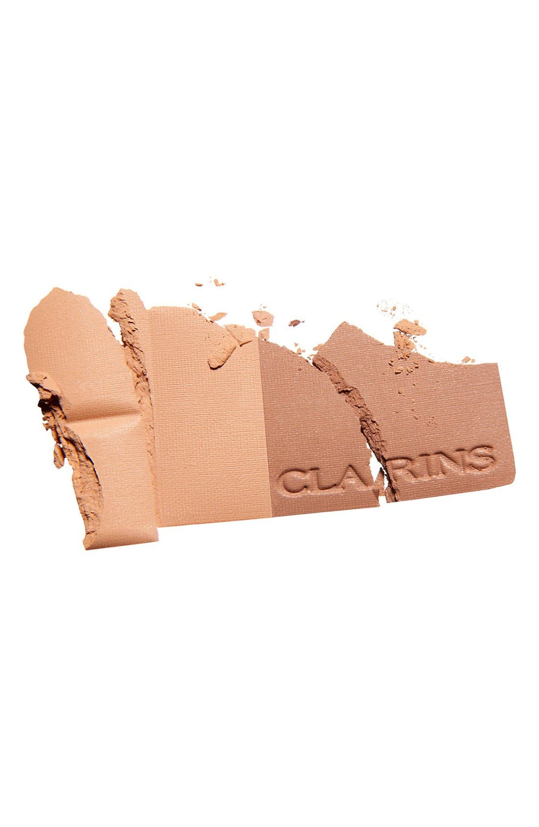 CLARINS, Bronzing Powder Duo SPF 15, Alternate thumbnail 4, color, LIGHT