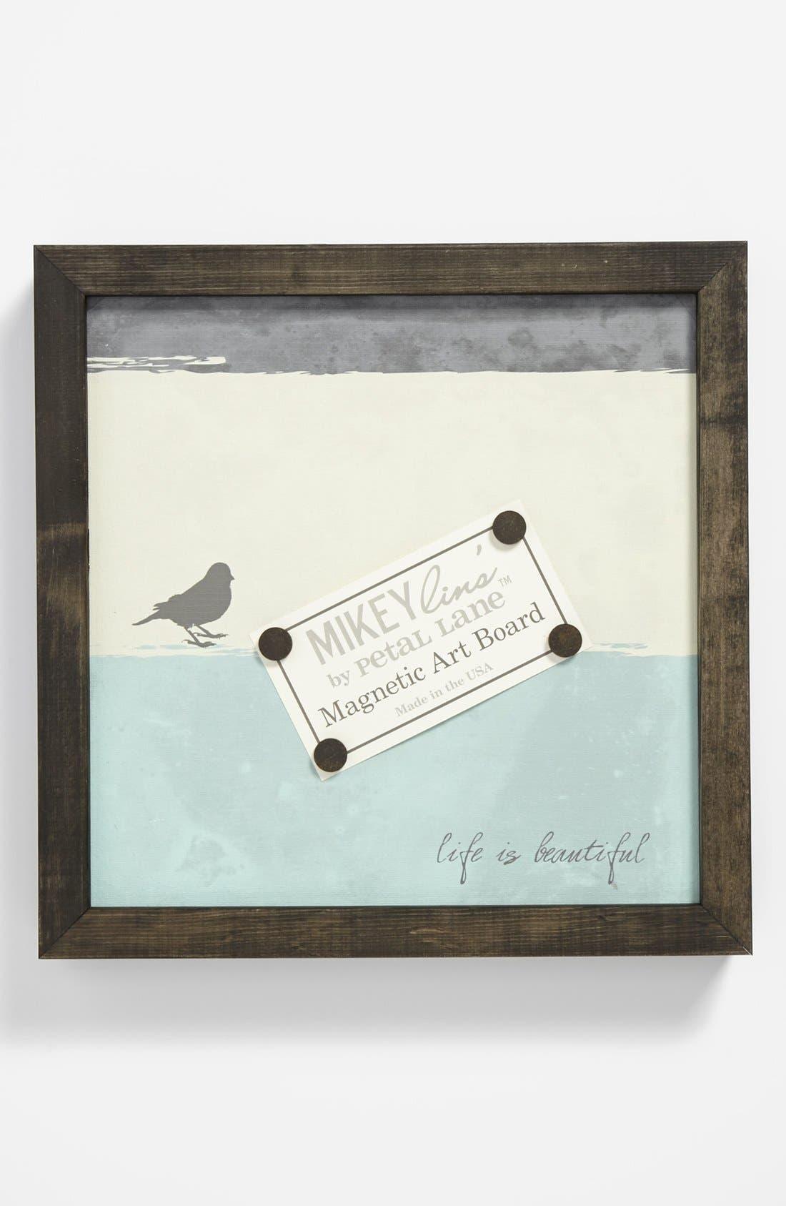 PETAL LANE, 'Life Is Beautiful' Quotable Framed Magnet Art Board, Small, Main thumbnail 1, color, 400