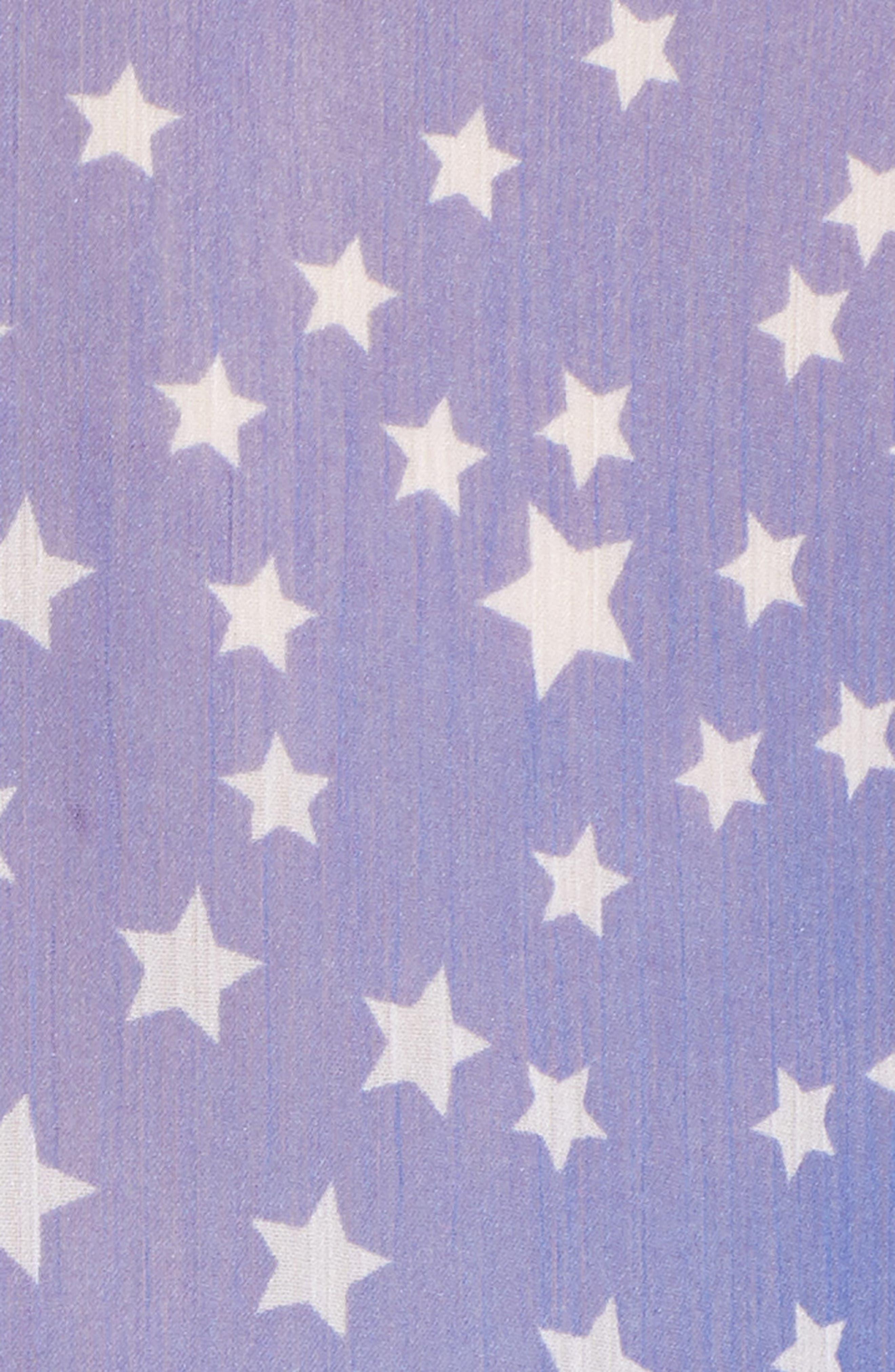 FREE PEOPLE, Star Dazed Scarf Wrap, Alternate thumbnail 5, color, BLUE