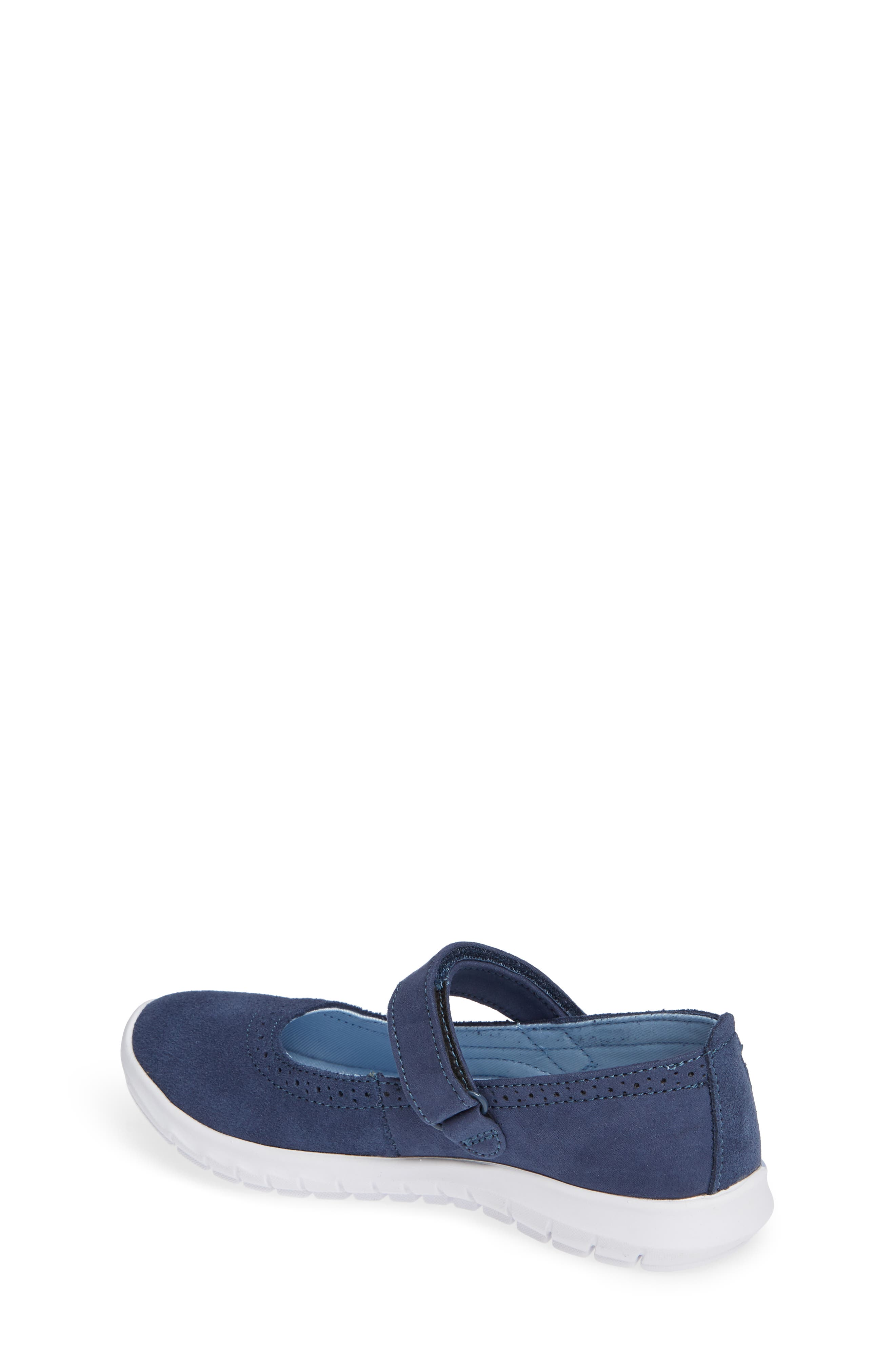 HUSH PUPPIES<SUP>®</SUP>, Flote Tricia Mary Jane Flat, Alternate thumbnail 2, color, NAVY
