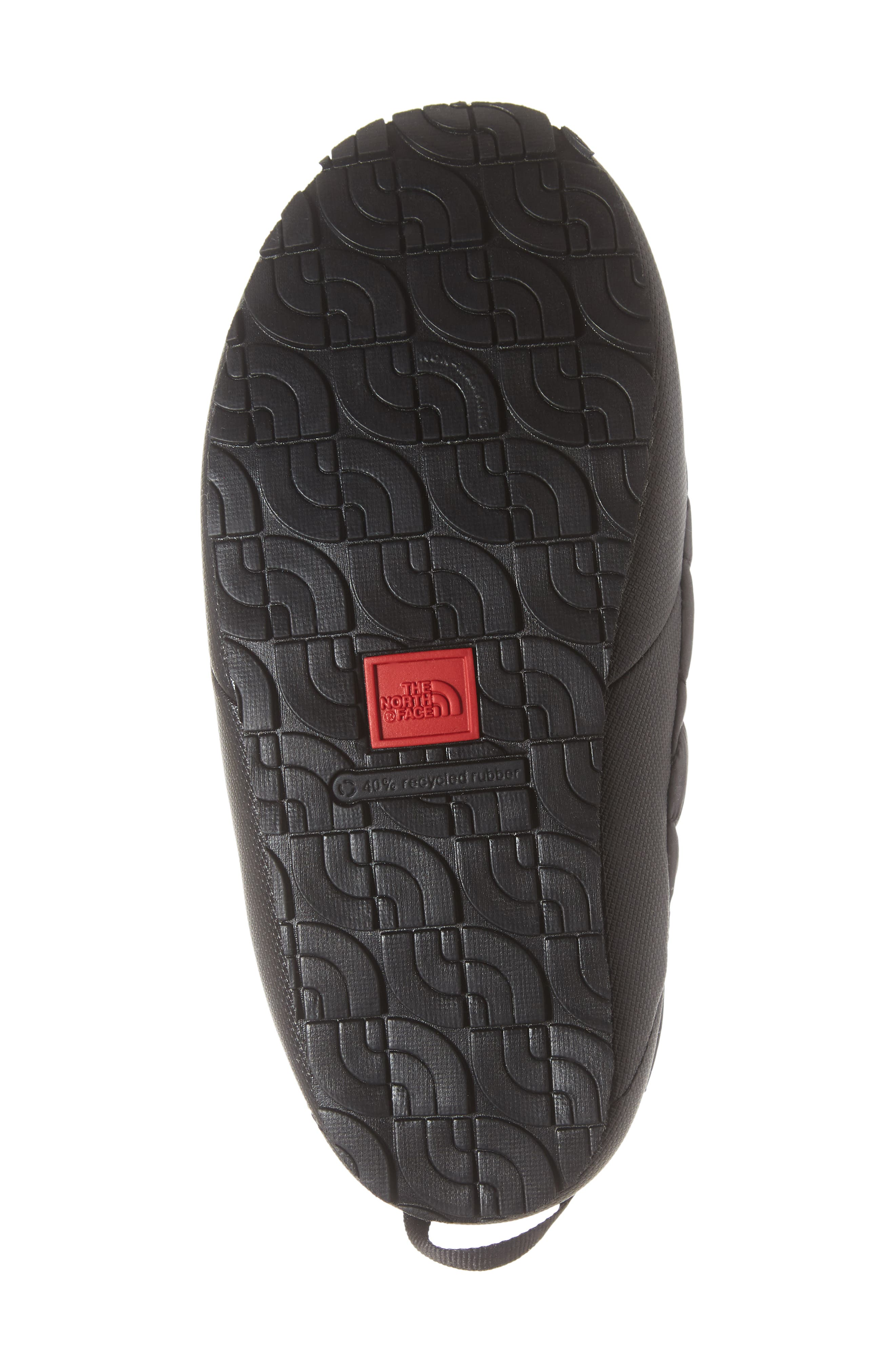 THE NORTH FACE, Thermoball<sup>™</sup> Water Resistant Traction Mule, Alternate thumbnail 6, color, SHINY BLACK/ BELUGA GREY