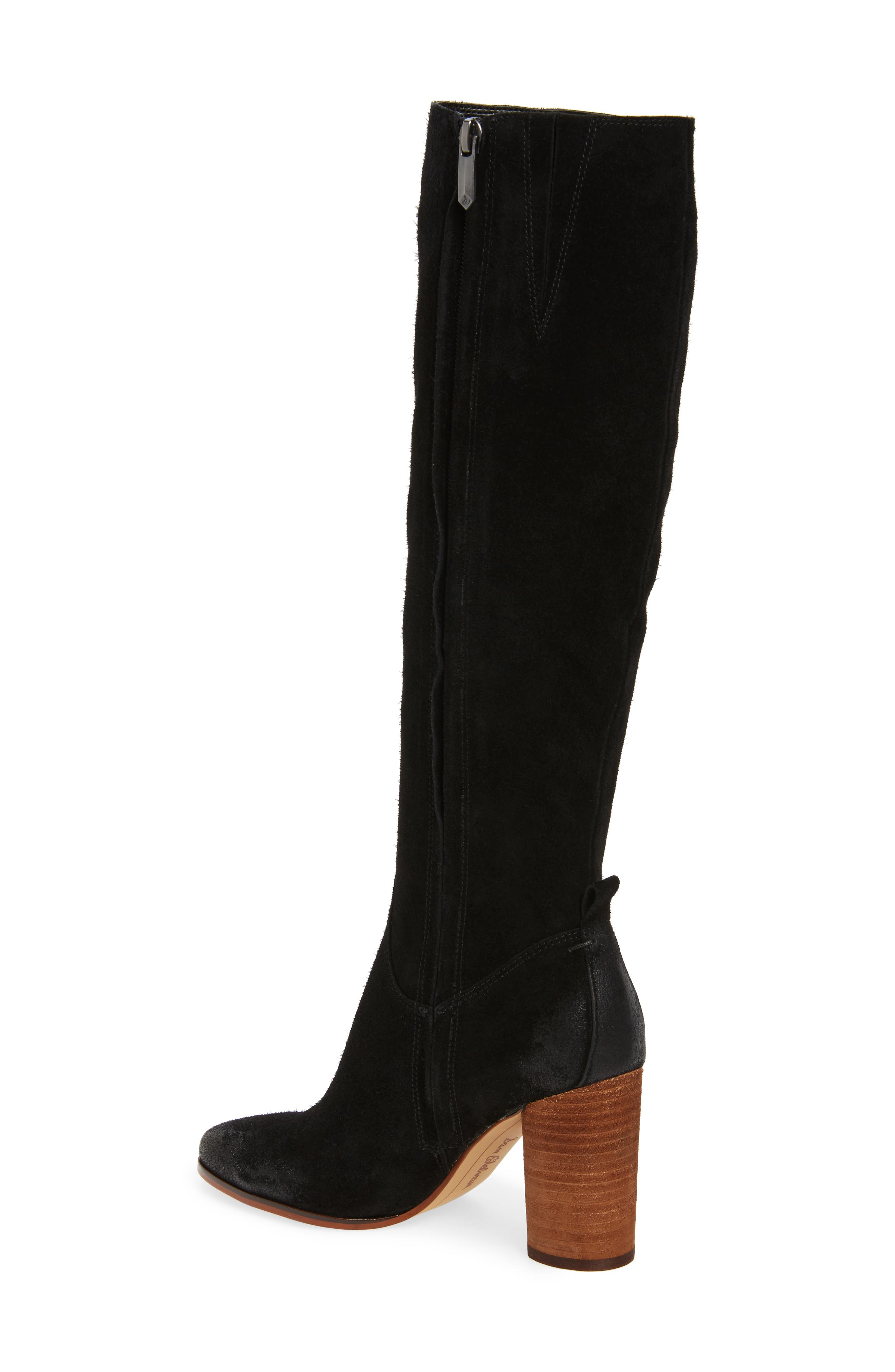 SAM EDELMAN, Camellia Tall Boot, Alternate thumbnail 2, color, 002