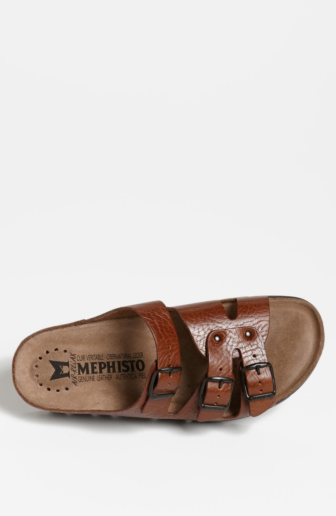 MEPHISTO, 'Zach 3' Sandal, Alternate thumbnail 3, color, TAN GRAIN