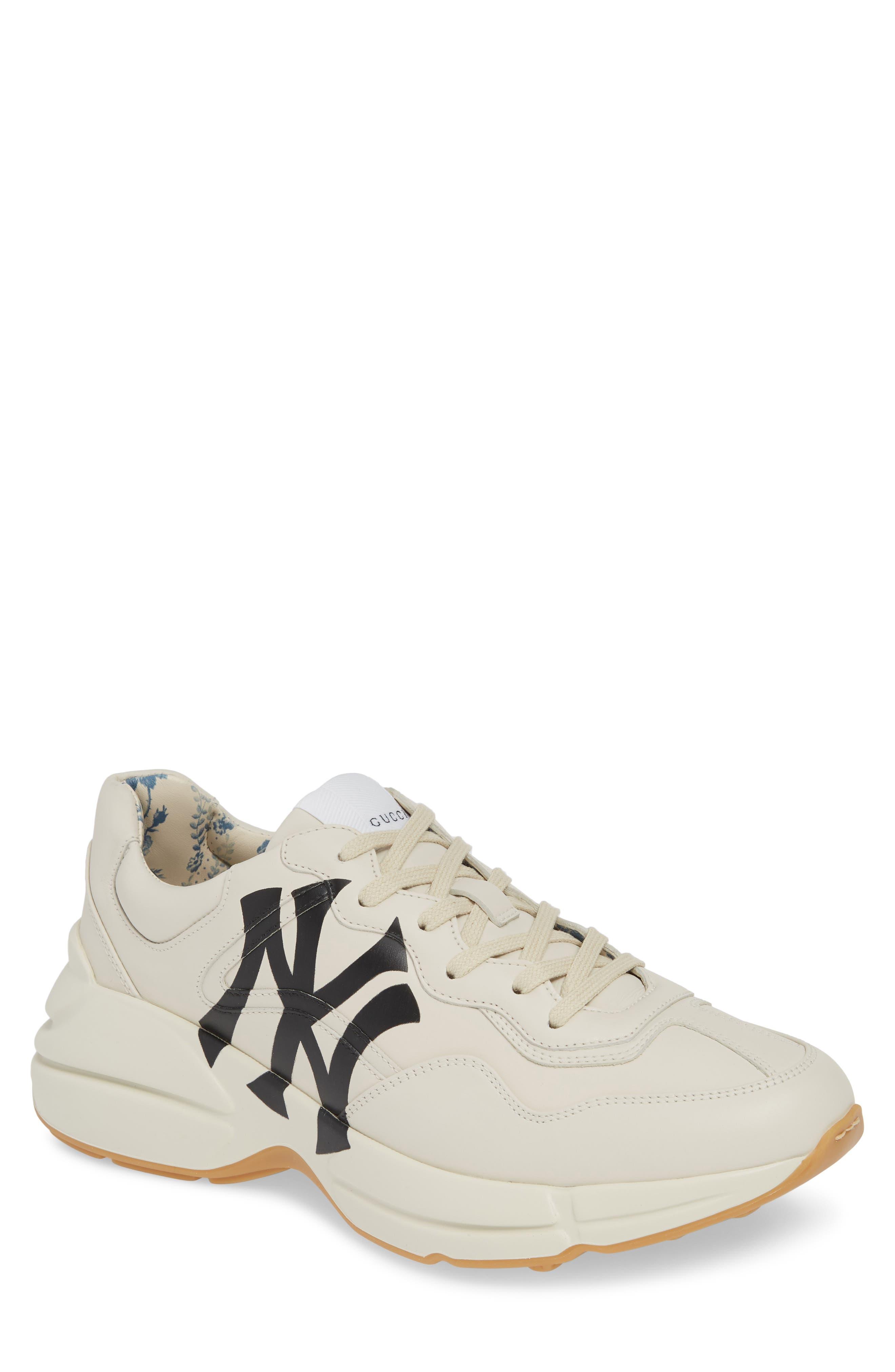 GUCCI, Rhyton Sneaker, Main thumbnail 1, color, MYSTIC WHITE/ WHITE
