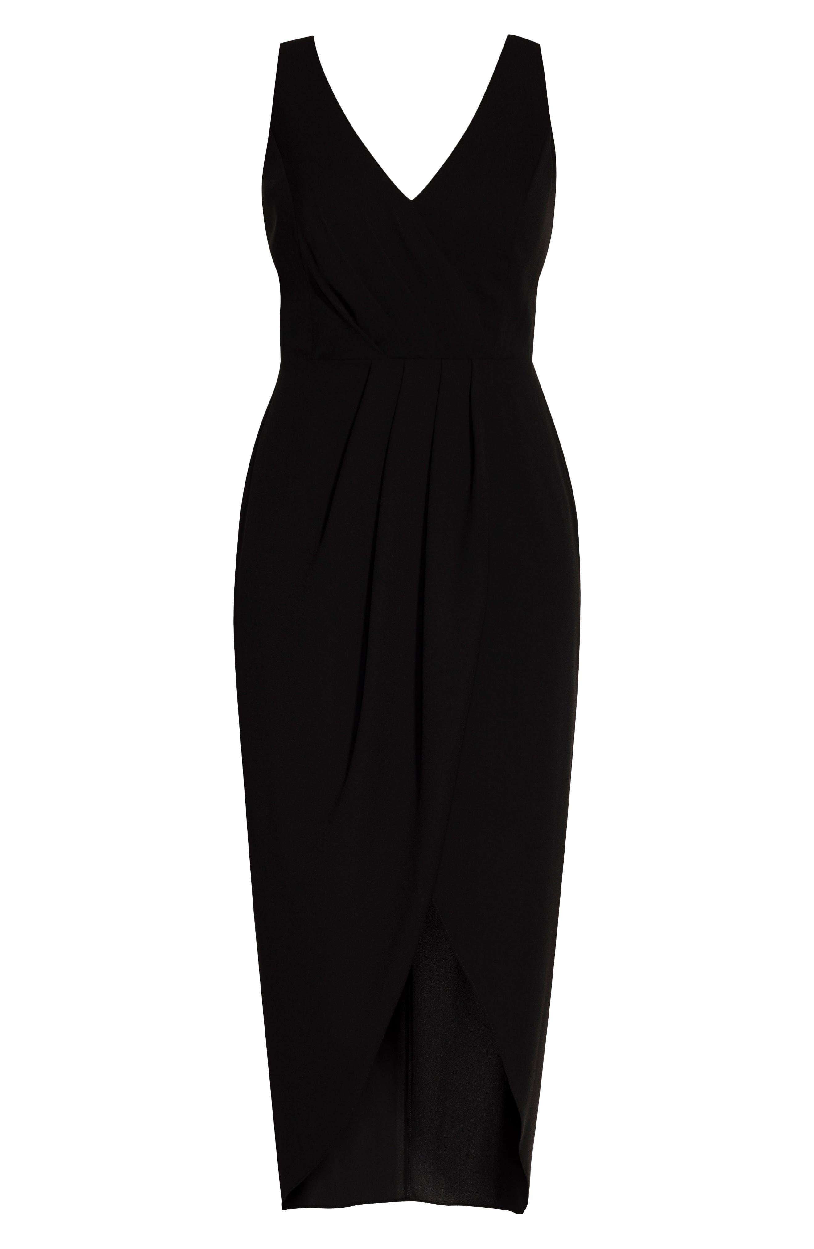 CITY CHIC, Cherish Maxi Dress, Alternate thumbnail 3, color, BLACK