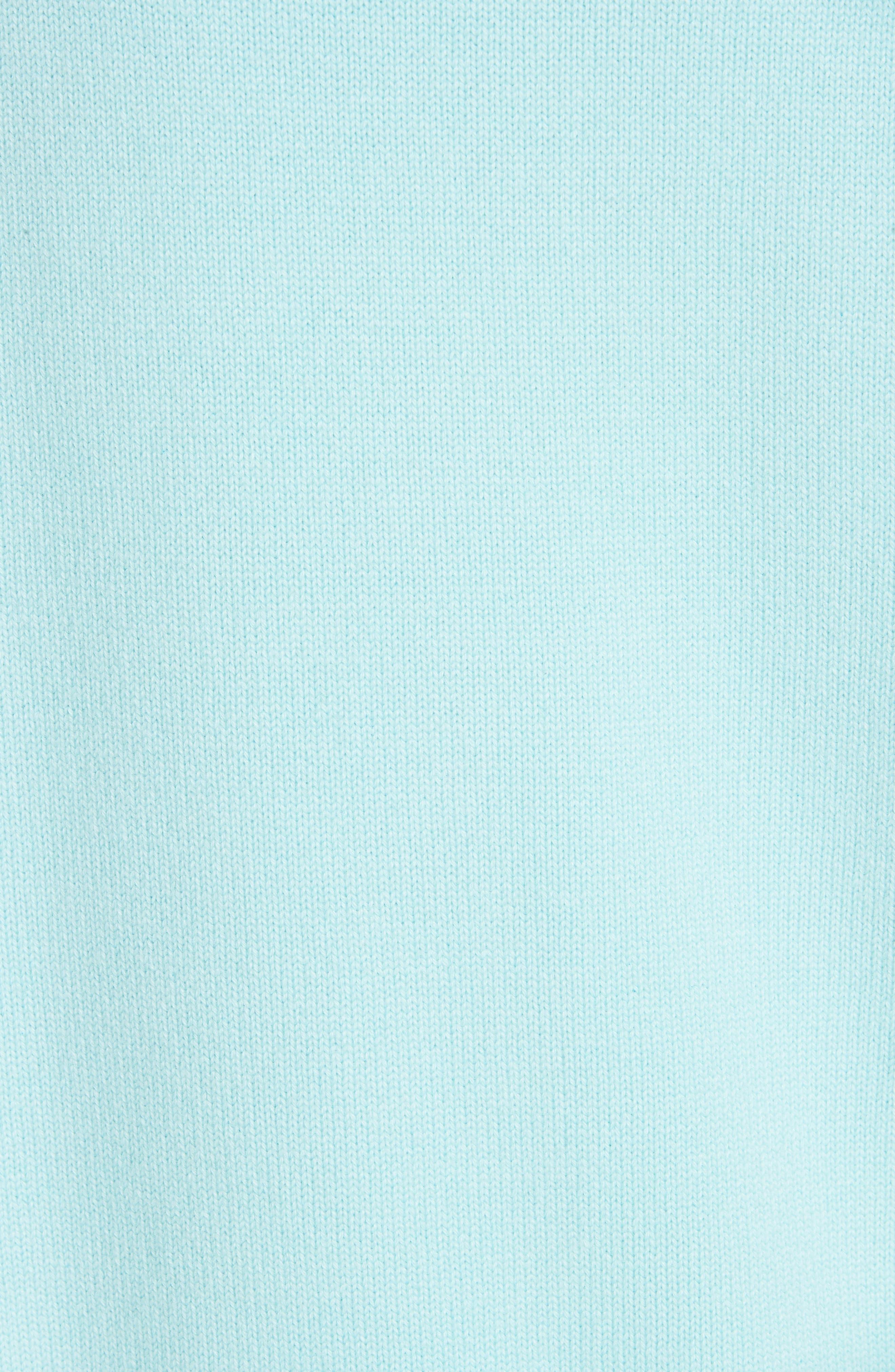CALVIN KLEIN 205W39NYC, Logo Cashmere Sweater, Alternate thumbnail 6, color, SKY BLUE