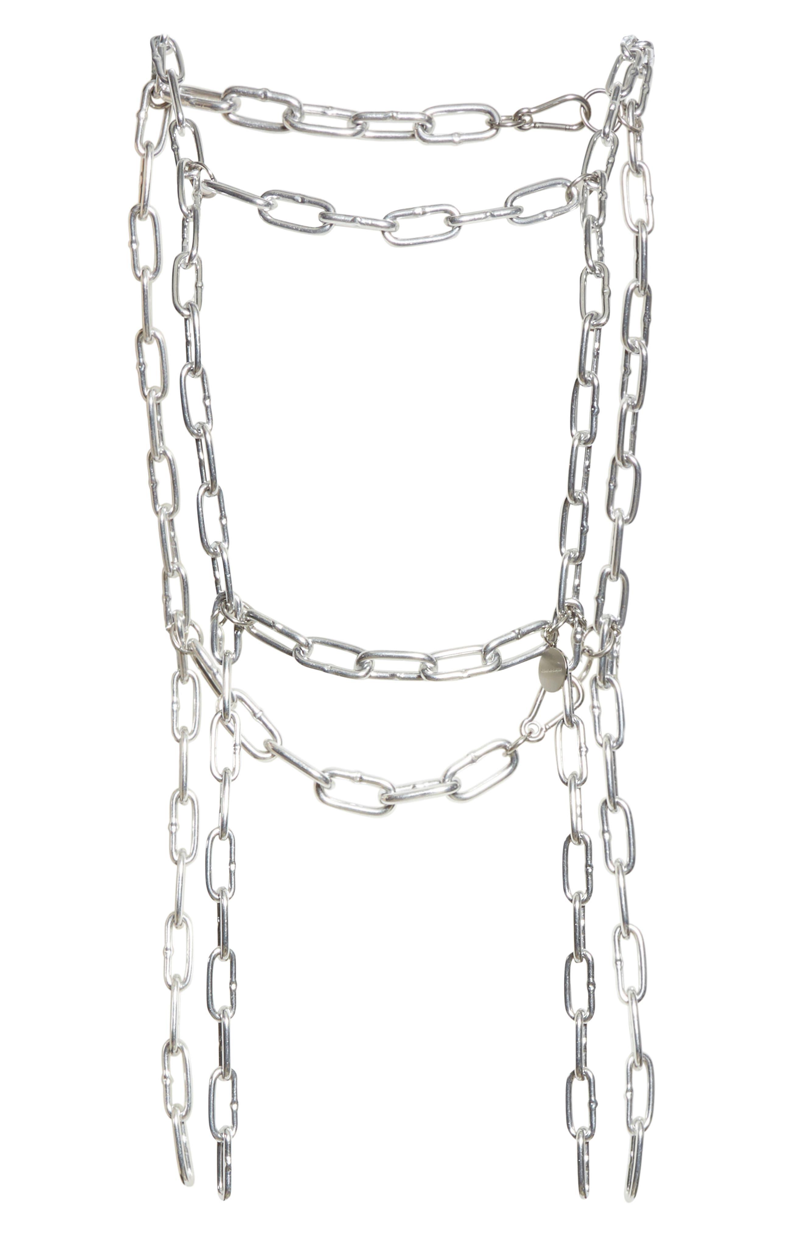 COMME DES GARÇONS Chain Harness, Main, color, SILVER