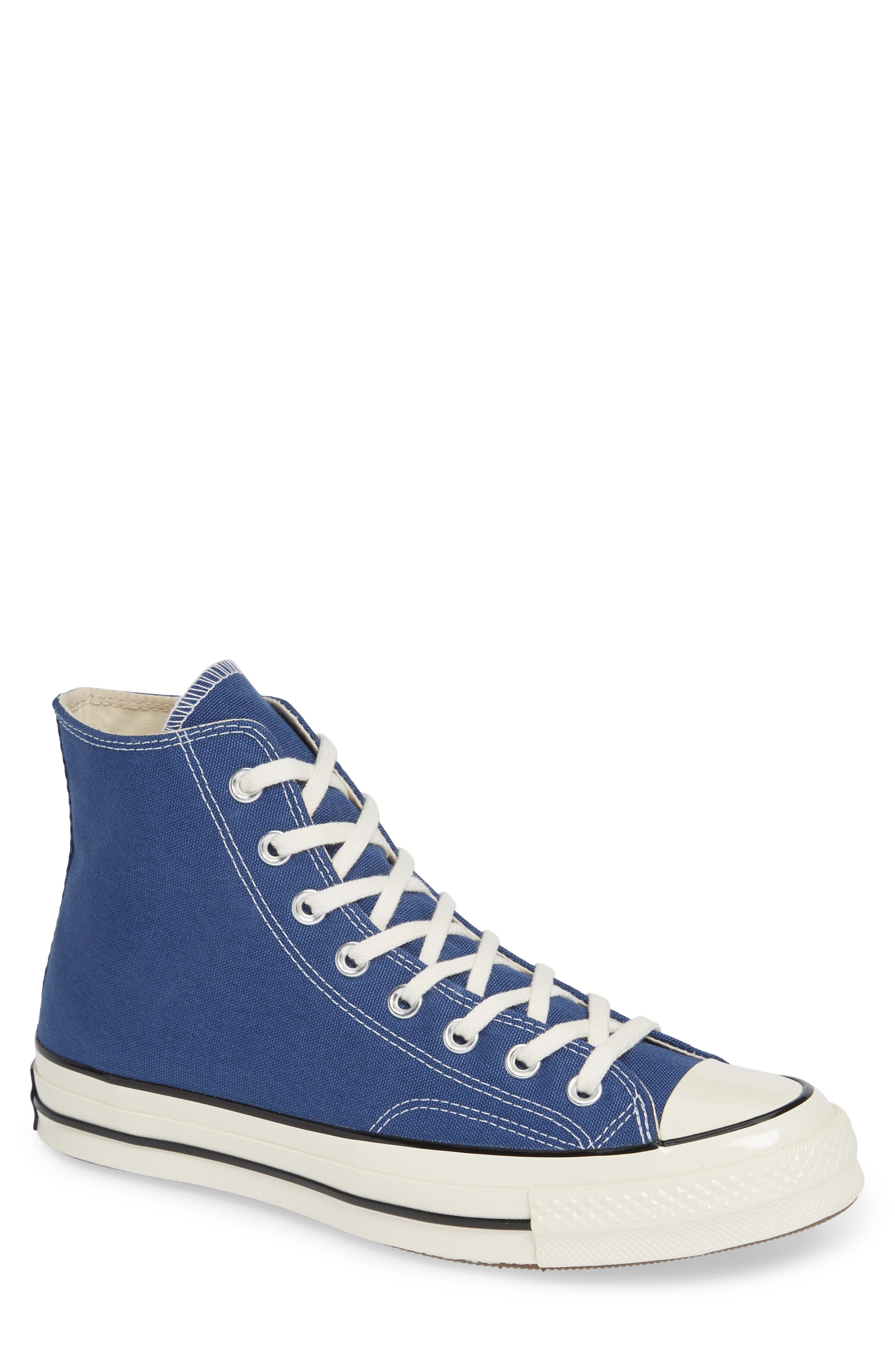 CONVERSE, Chuck Taylor<sup>®</sup> All Star<sup>®</sup> 70 Vintage High Top Sneaker, Main thumbnail 1, color, TRUE NAVY/ BLACK
