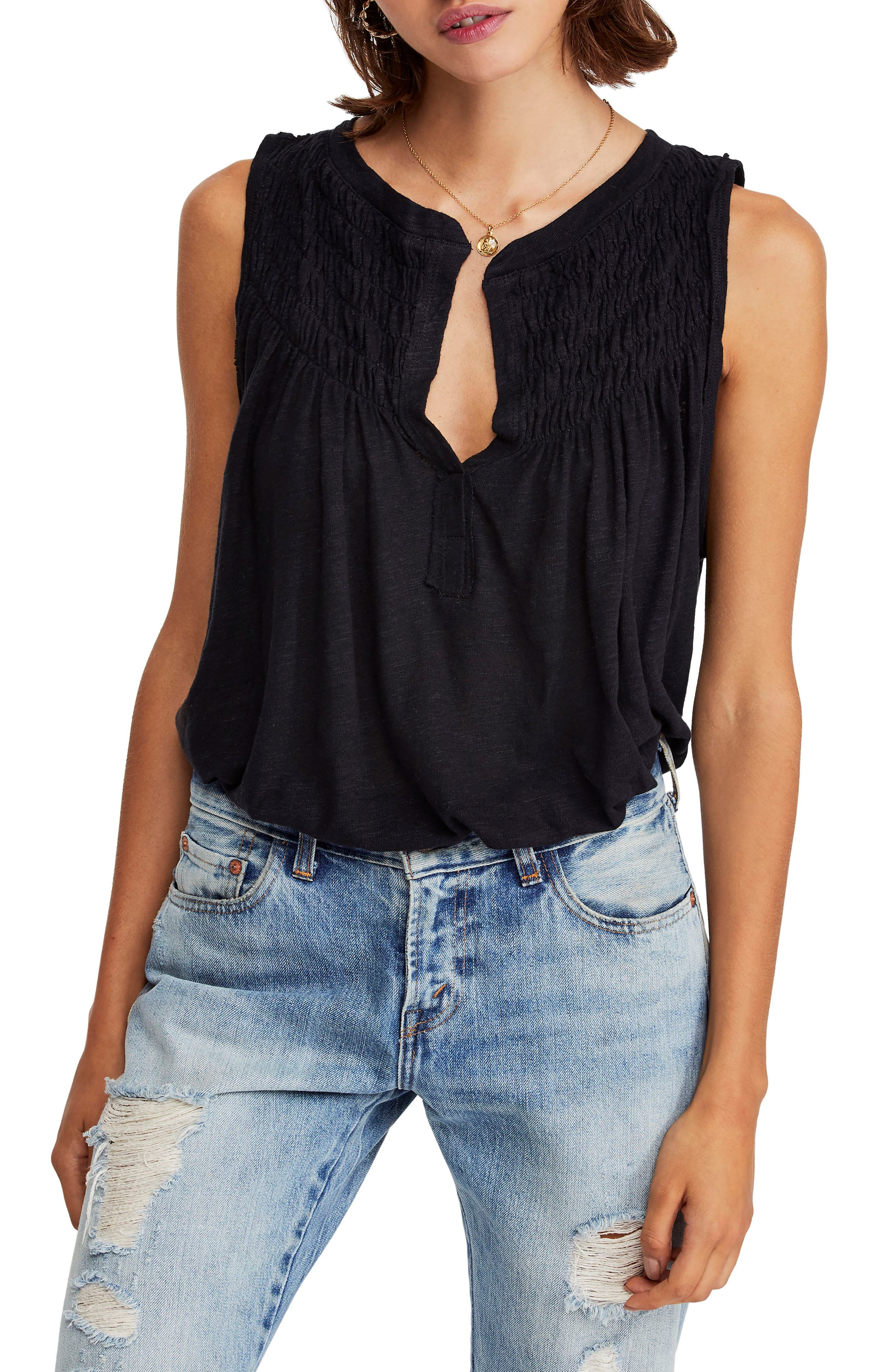FREE PEOPLE, New to Town Tank, Main thumbnail 1, color, 001