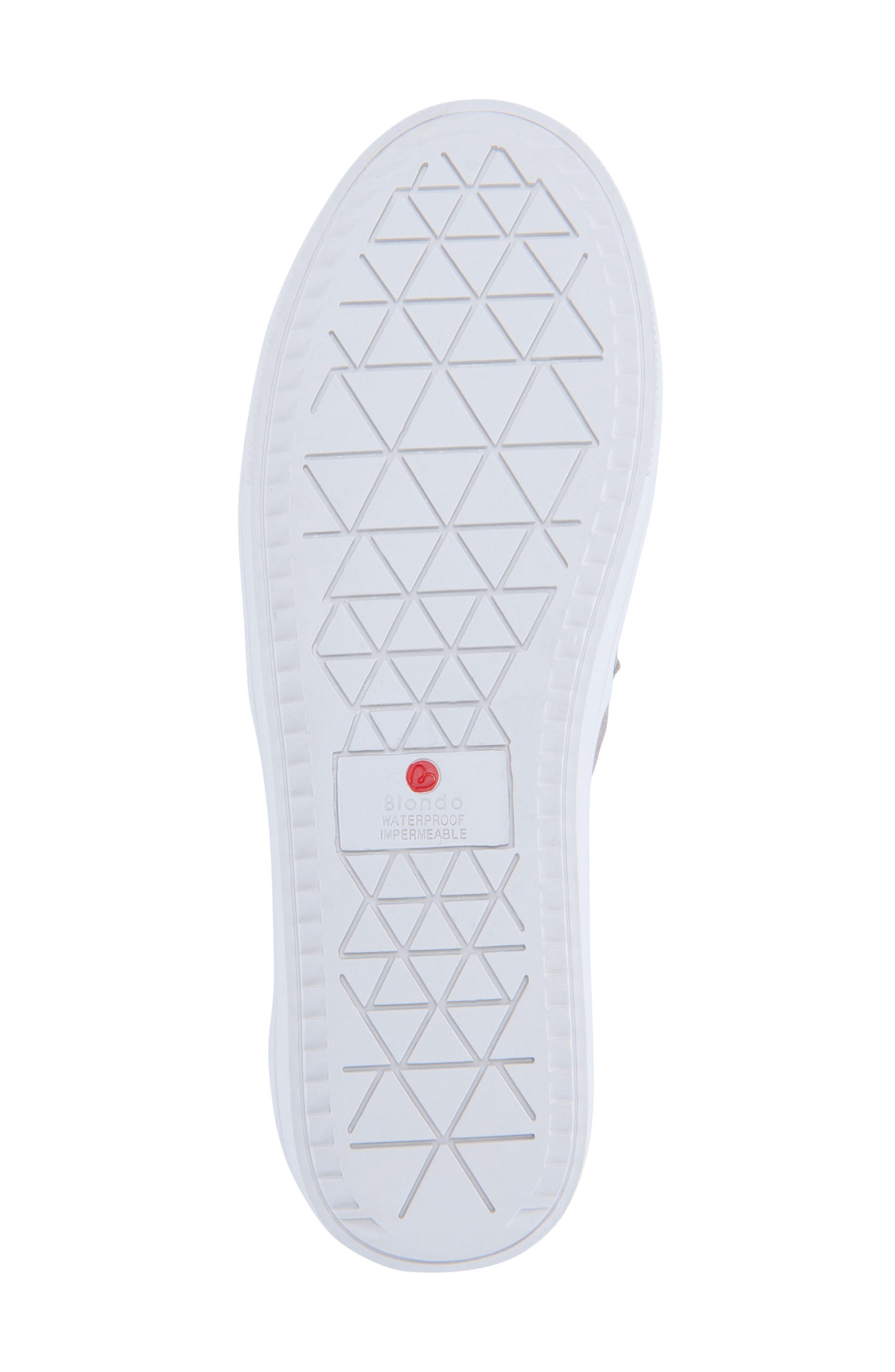 BLONDO, Gracie Waterproof Slip-On Sneaker, Alternate thumbnail 6, color, MUSHROOM SUEDE