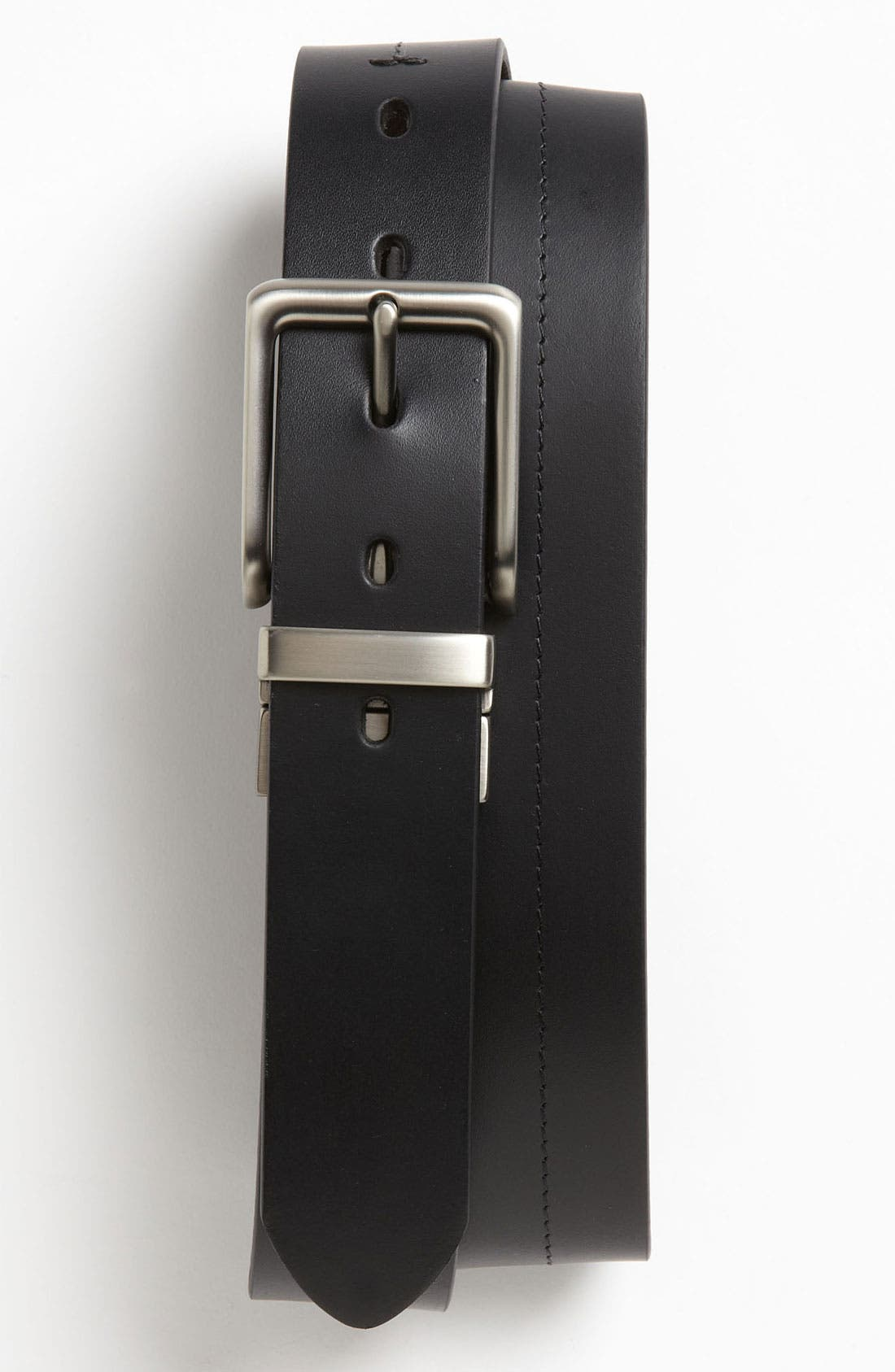 FOSSIL, 'Brandon' Twist Reversible Leather Belt, Main thumbnail 1, color, BLACK/ BROWN