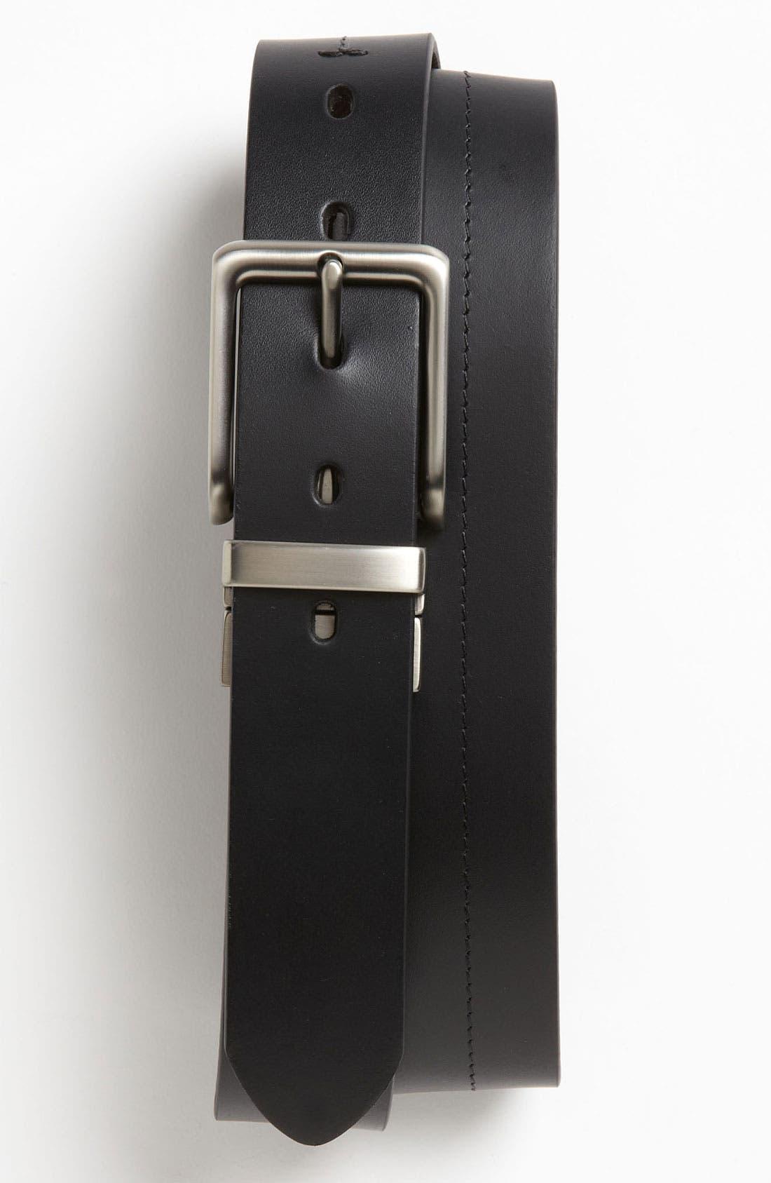 FOSSIL 'Brandon' Twist Reversible Leather Belt, Main, color, BLACK/ BROWN