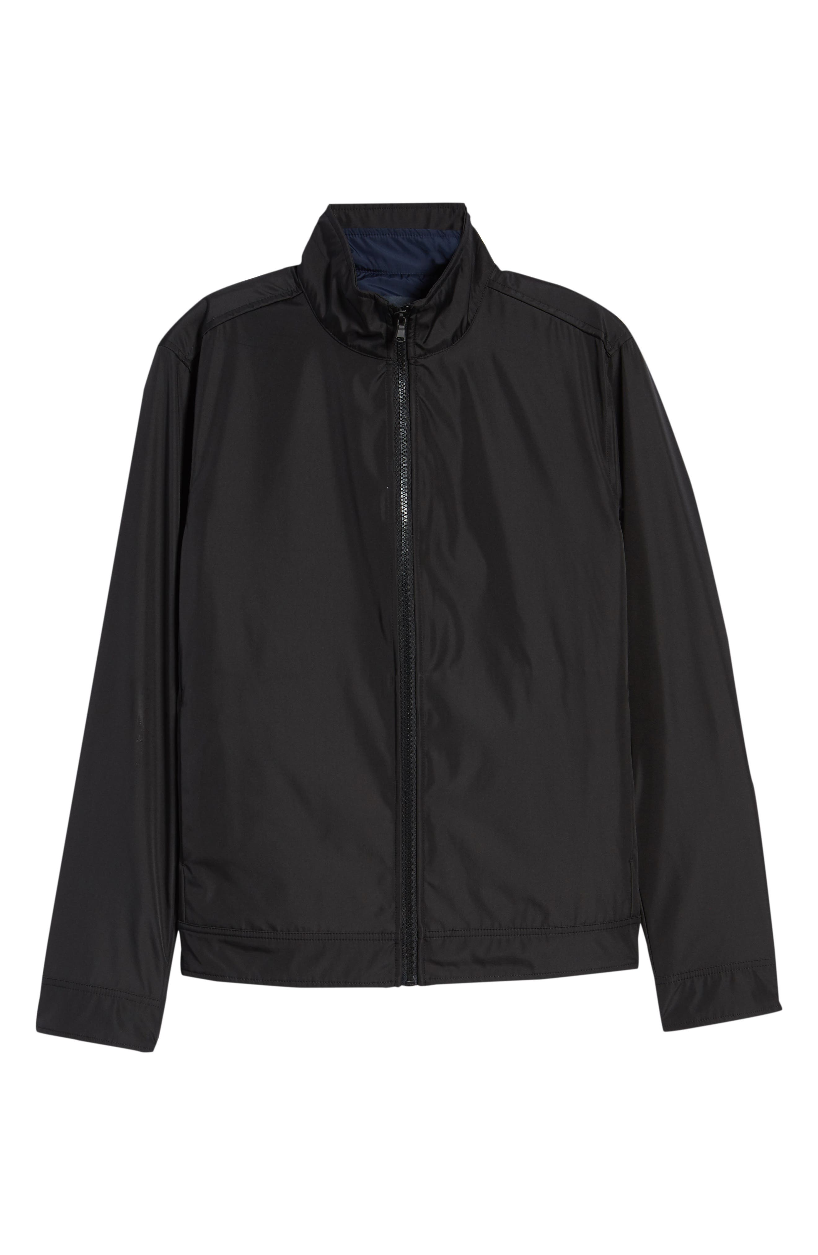 ZACHARY PRELL, Oxford 2-in-1 Jacket, Alternate thumbnail 6, color, BLACK