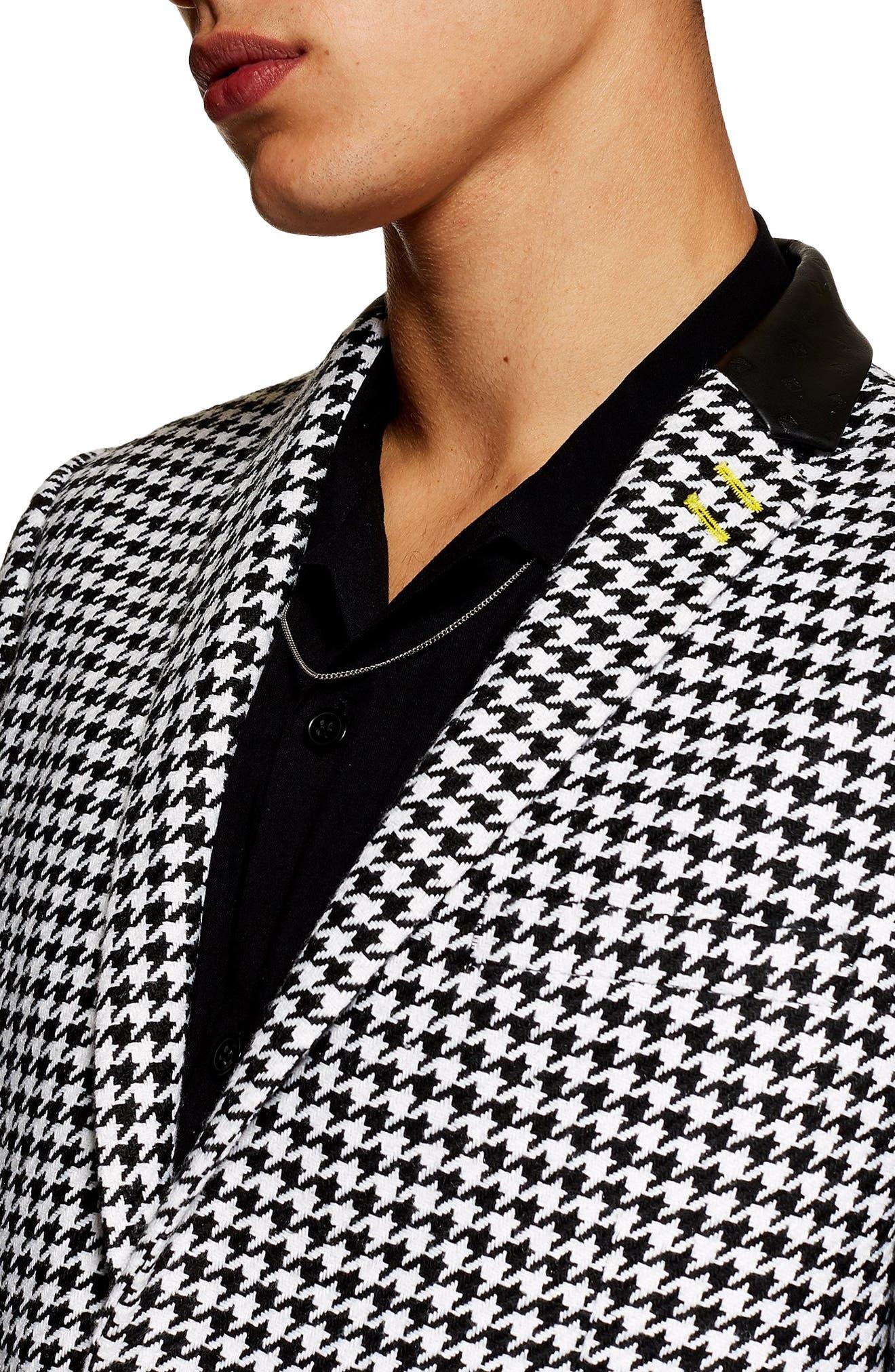 TOPMAN, Roe Skinny Fit Suit Jacket, Alternate thumbnail 5, color, 001