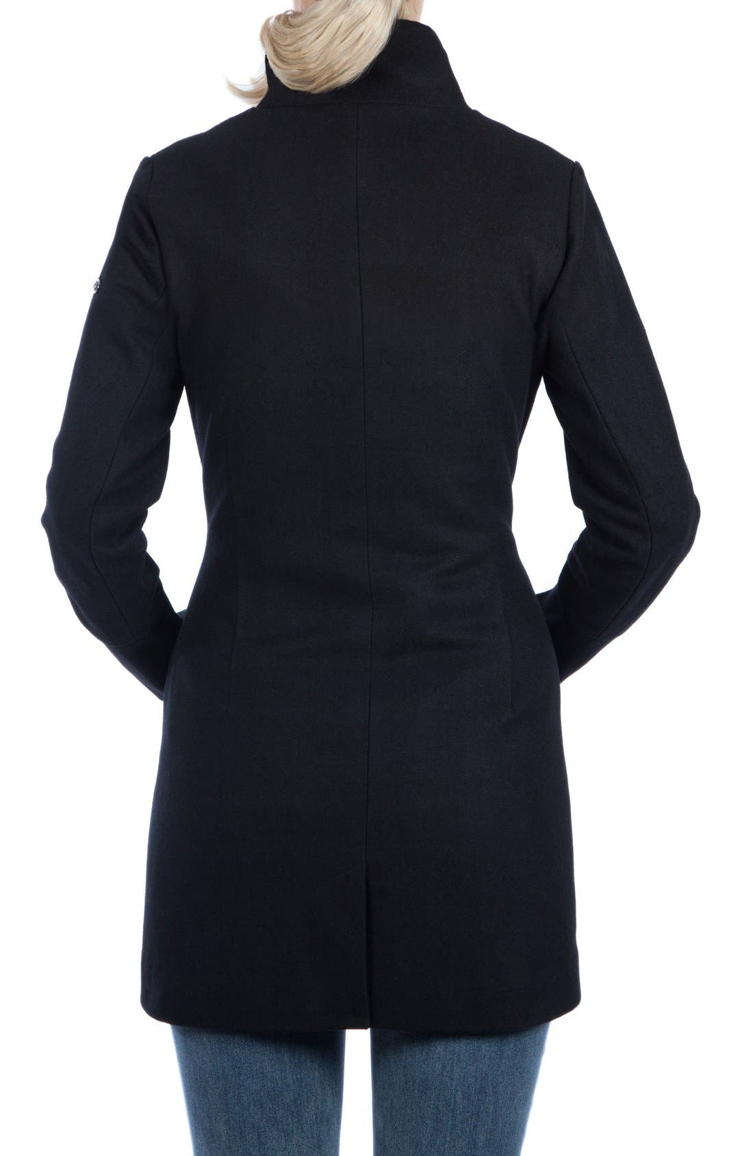 MODERN ETERNITY, Convertible 3-in-1 Maternity/Nursing Coat, Alternate thumbnail 7, color, BLACK